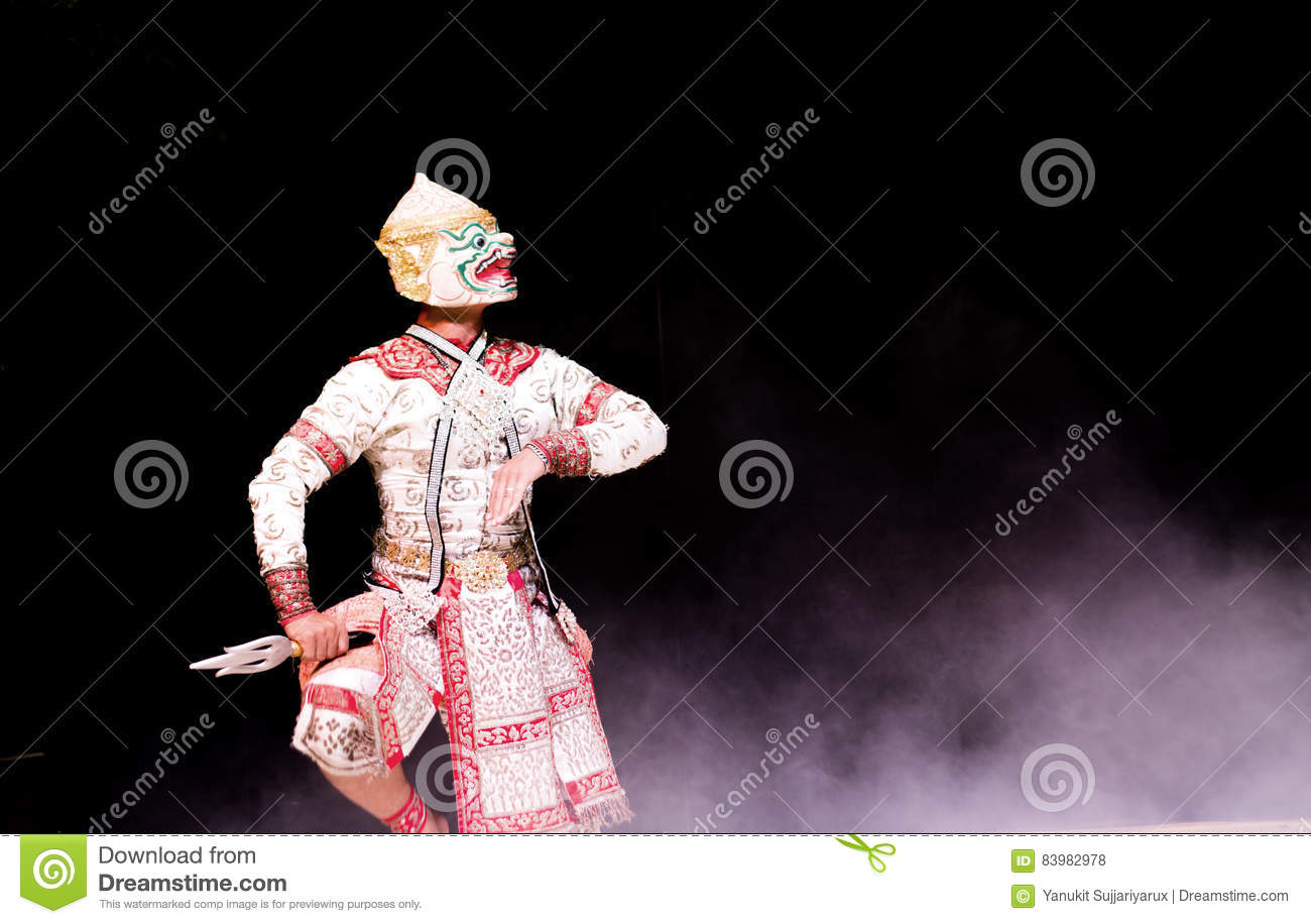 Asian And Thailand Traditional Performance Drama Stock Photo - Image