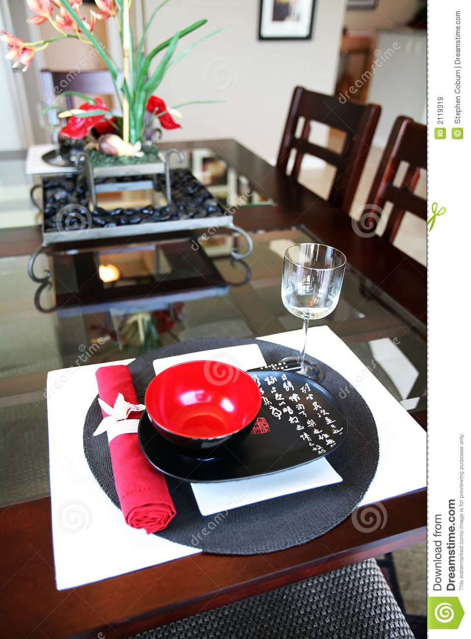 Asian Themed Dining Room Royalty Free Stock Images Image 2119319