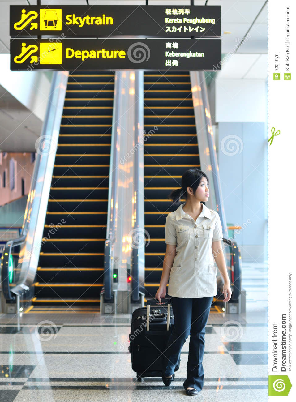 Asian Woman In Airport 18
