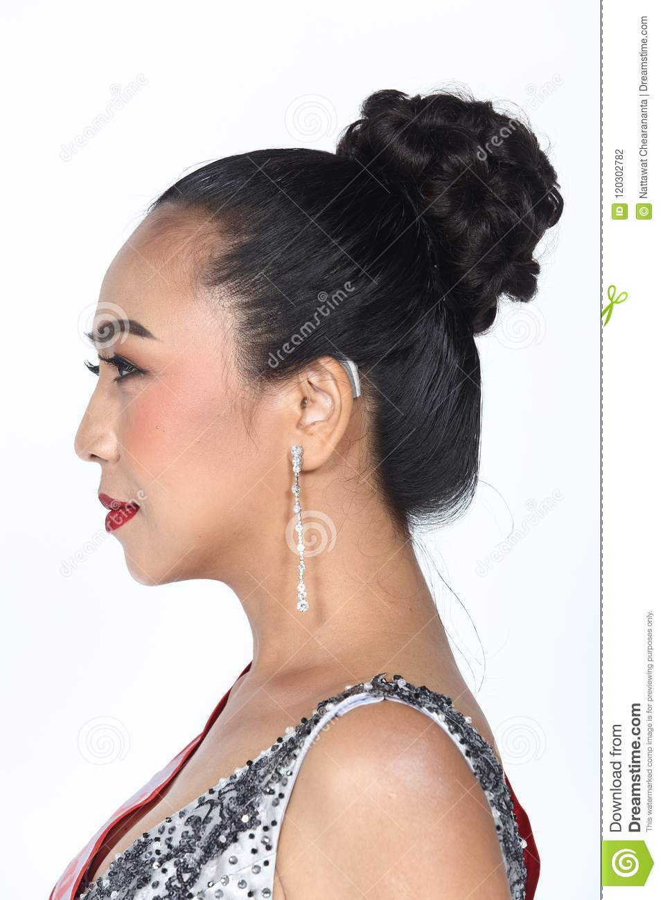 Asian Woman Before Make Up Hair Style No Retouch Fresh
