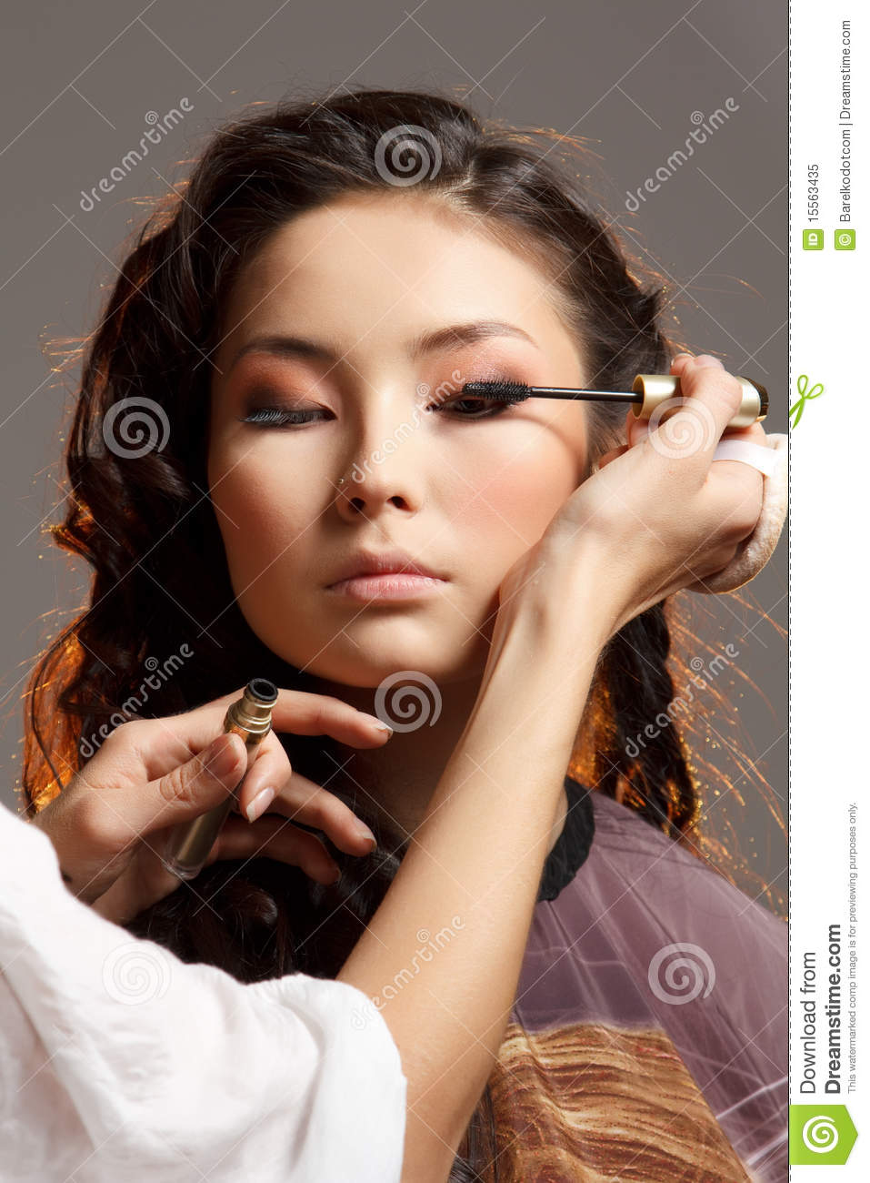 Asian Woman In A Beauty Salon. Royalty Free Stock Photo ...