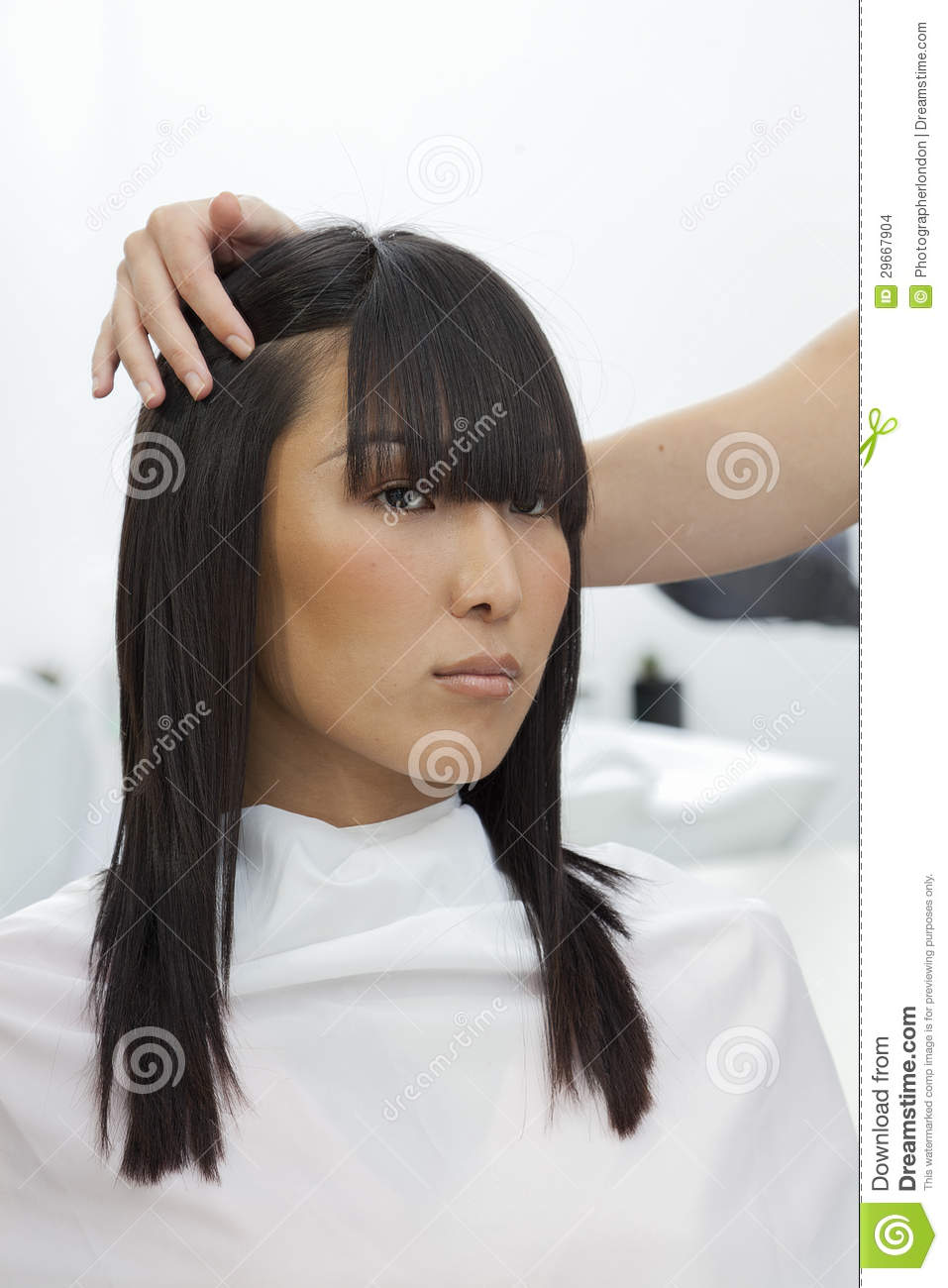 Asian Woman At Beauty Salon Stock Images - Image: 29667904