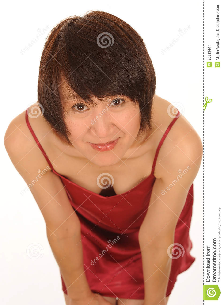 Asian Woman Bowing Stock Image Image Of Hands, Brown - 25813447-8200