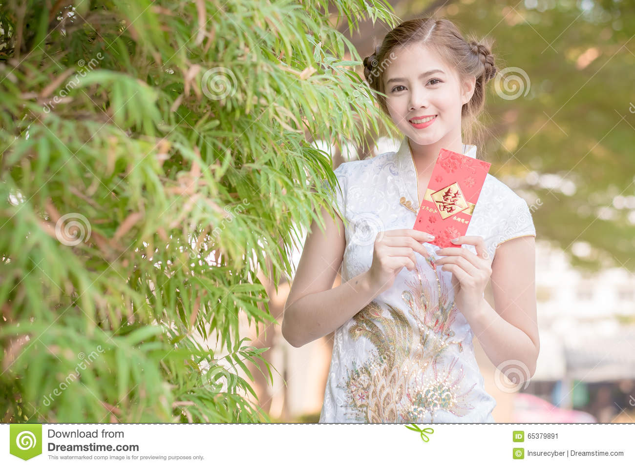 Asian woman in chinese