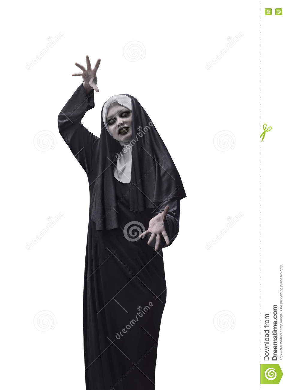 asian woman devil nun stock image. image of expressions - 78956585