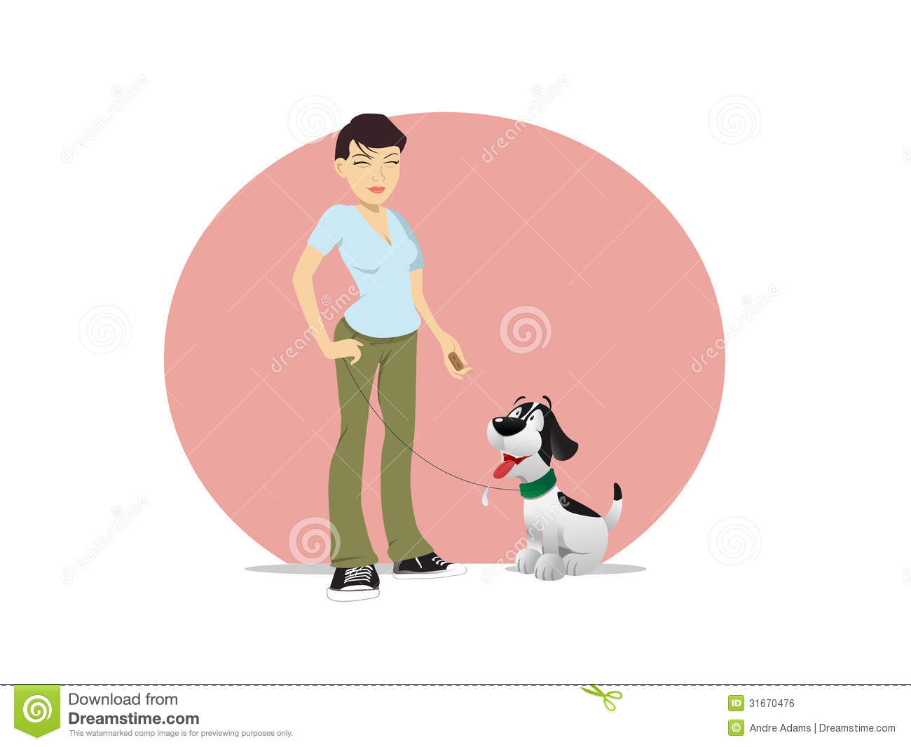 Asian Woman Dog Owner Treat Royalty Free Stock Image - Image: 31670476