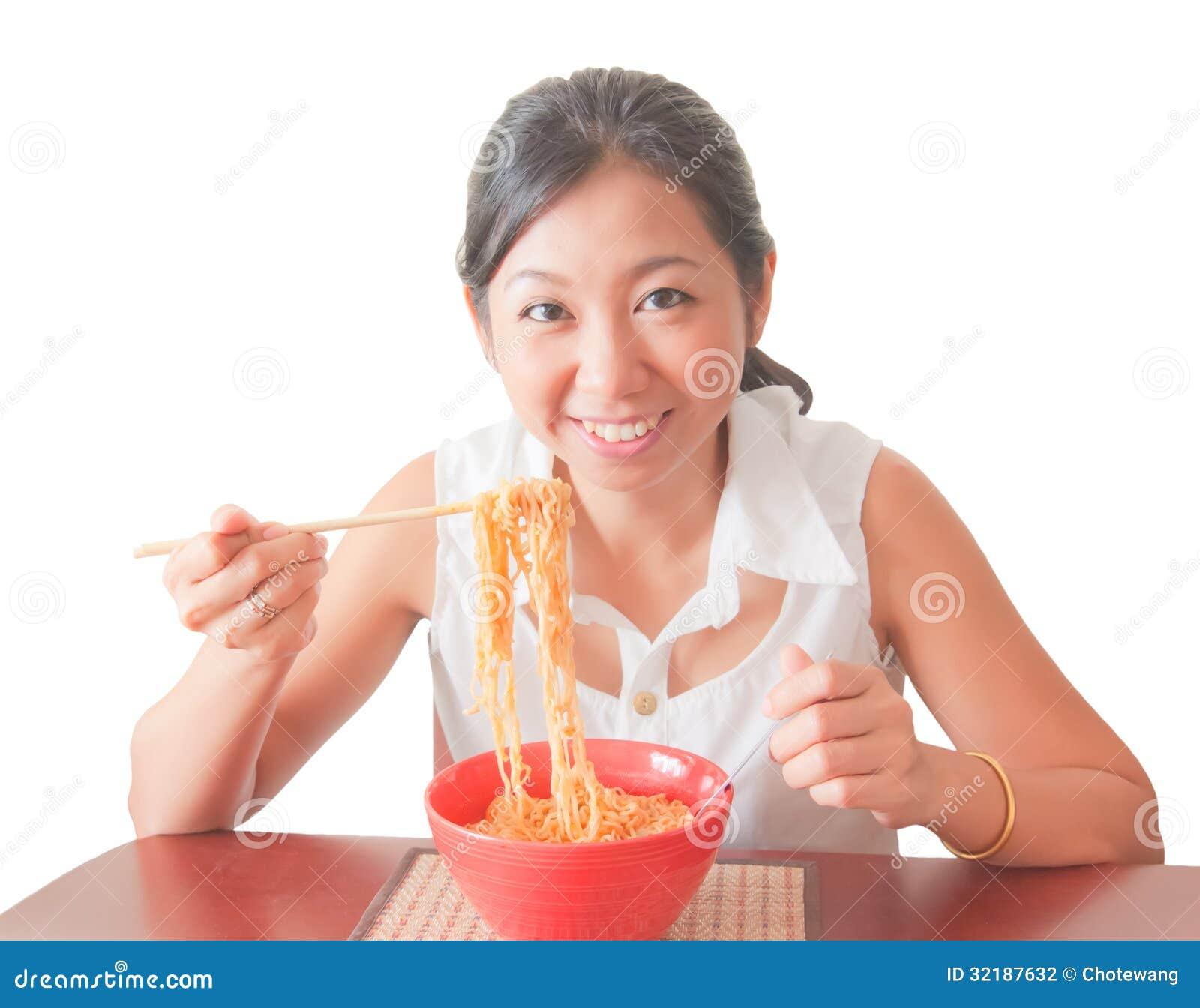 Asian Woman Eating 40