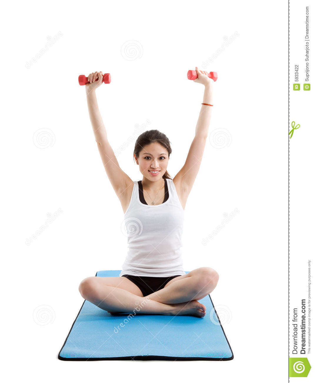 Workout Photography: Asian Woman Exercise Stock Photography