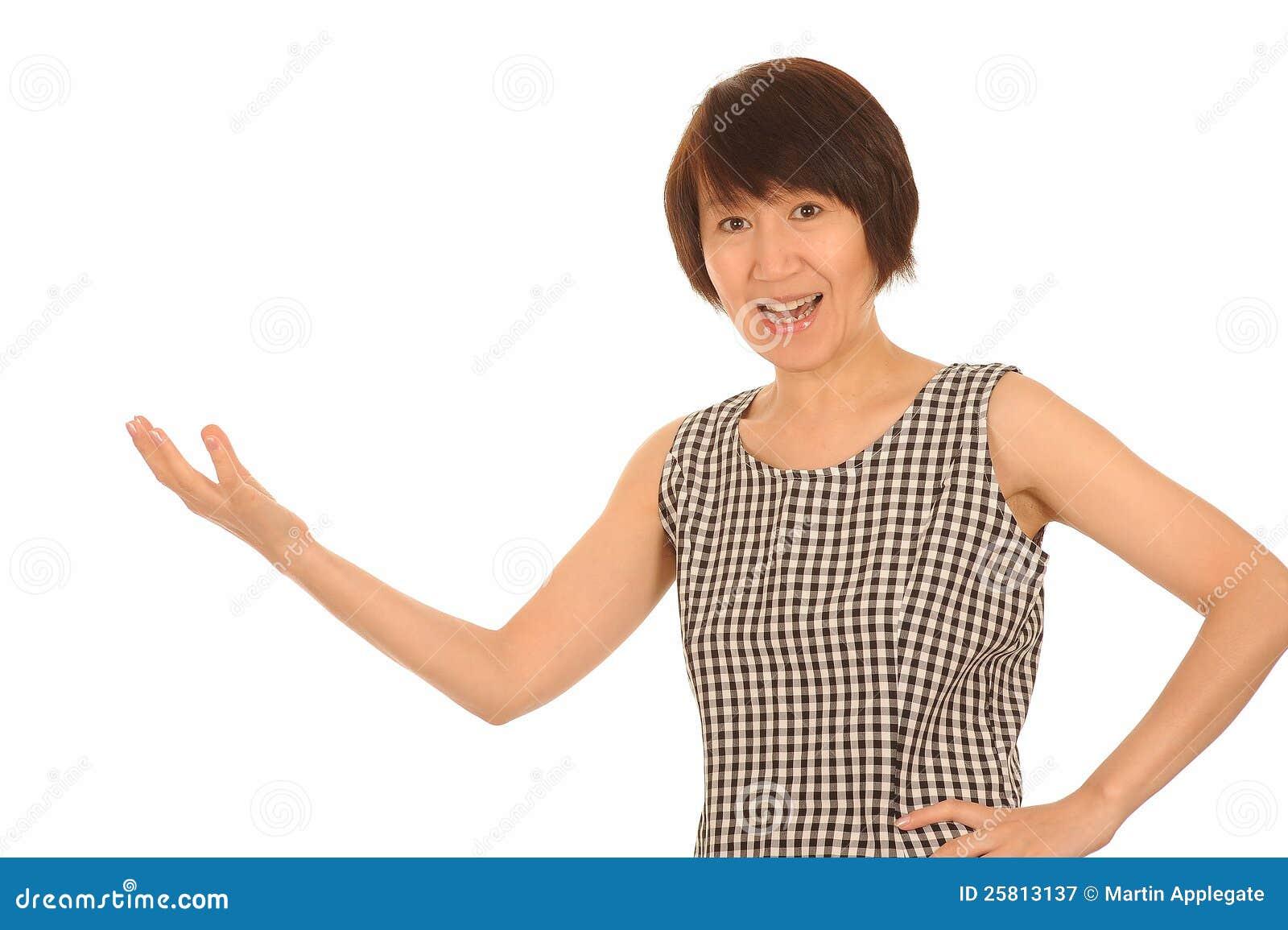 Asian Woman Explaining 73