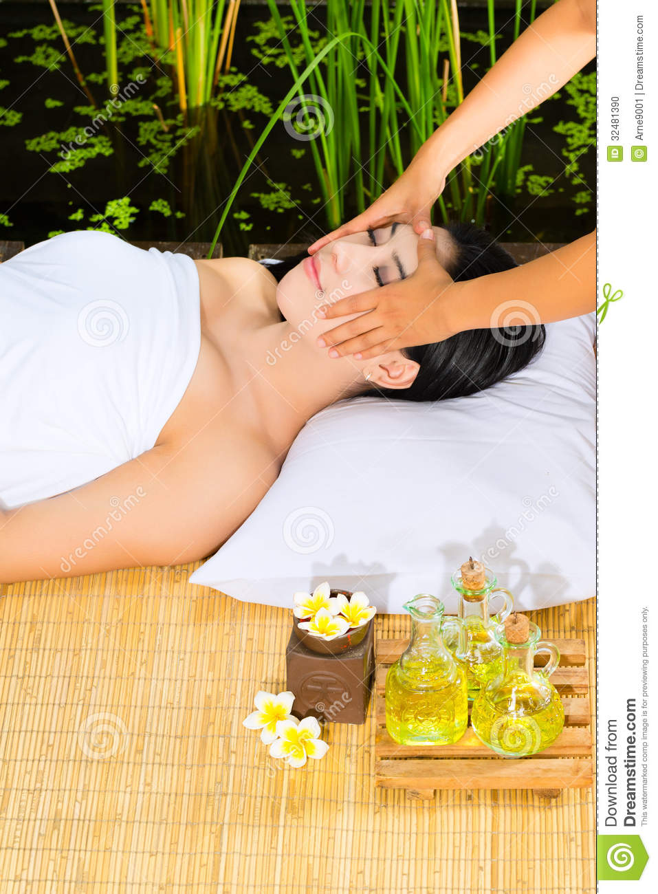 Asian Women Getting Massage