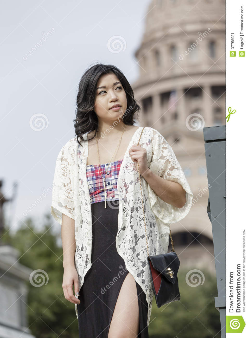 Asian Woman in lifestyle locations