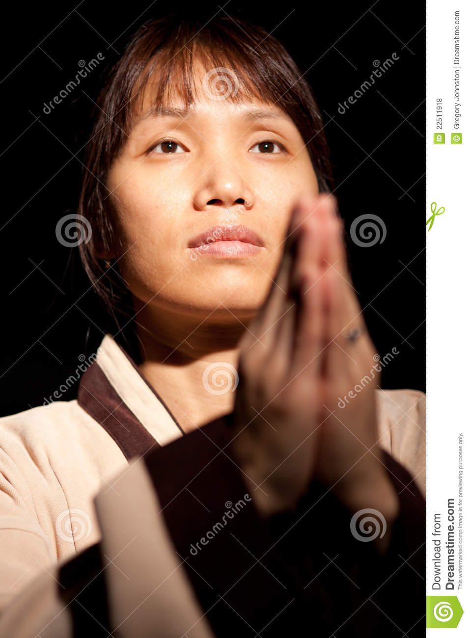 asian woman says prayer stock photo image of asia