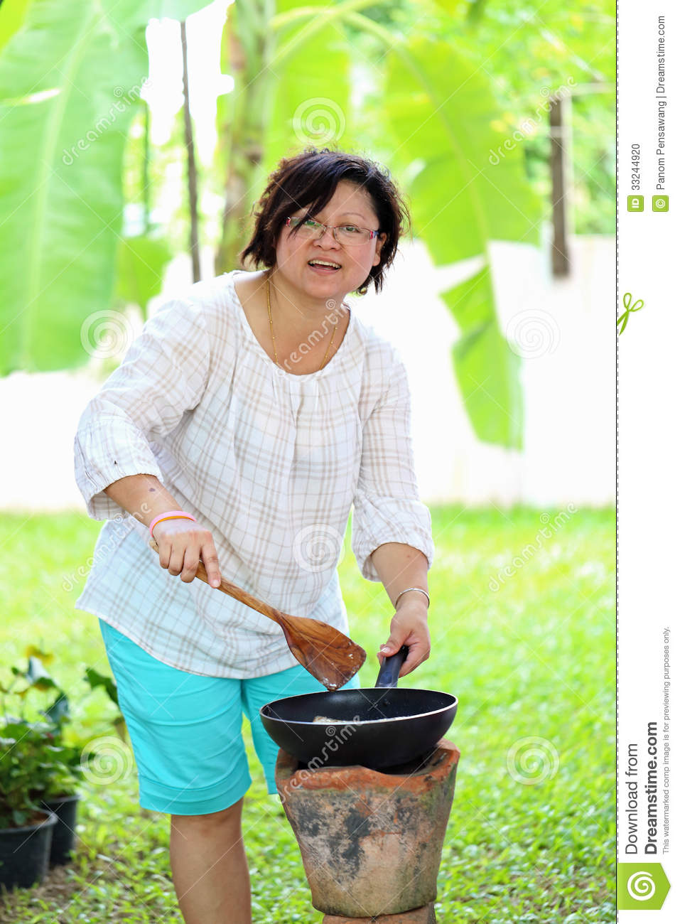 Asian Woman Cooking 54