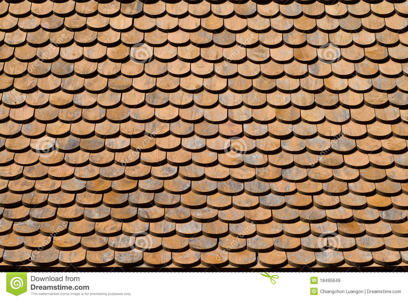 Asian Wooden Roof Texture Stock Image Image Of Clean
