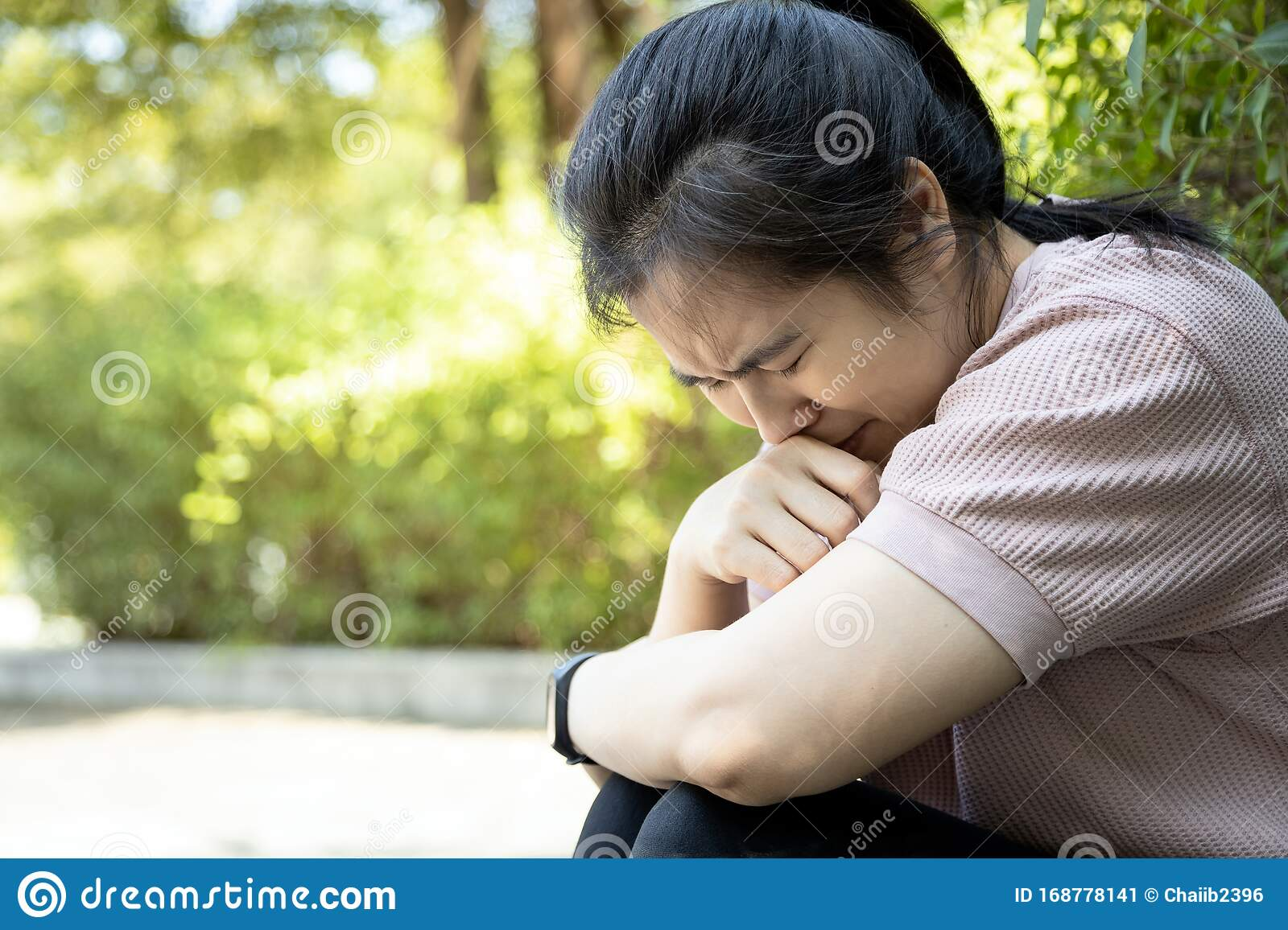 Asian Young Woman Sitting Alone In Outdoor At Park Broken Heart Despair Suffer Depression Problem Feeling Sad Cry Disappointed Stock Image Image Of Heart Lifestyle 168778141