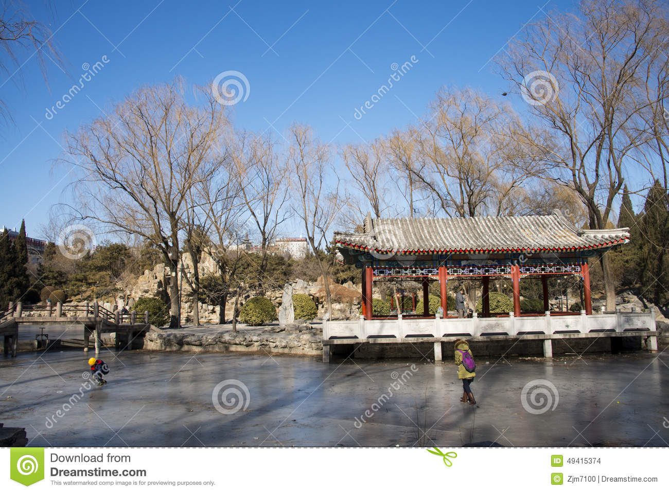 Download Asiat China, Peking, Ritan-Park Redaktionelles Stockbild - Bild von porzellan, gebäude: 49415374