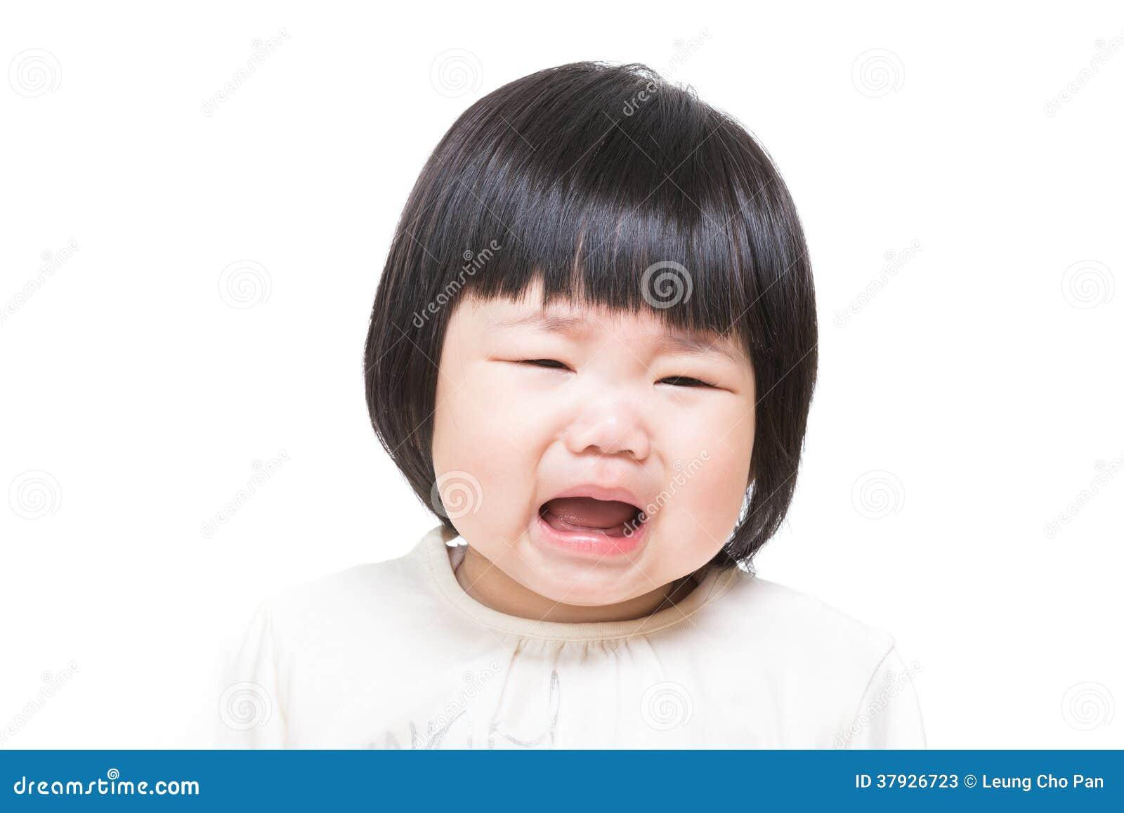 Asiatet behandla som ett barn flickan som känner sig olycklig