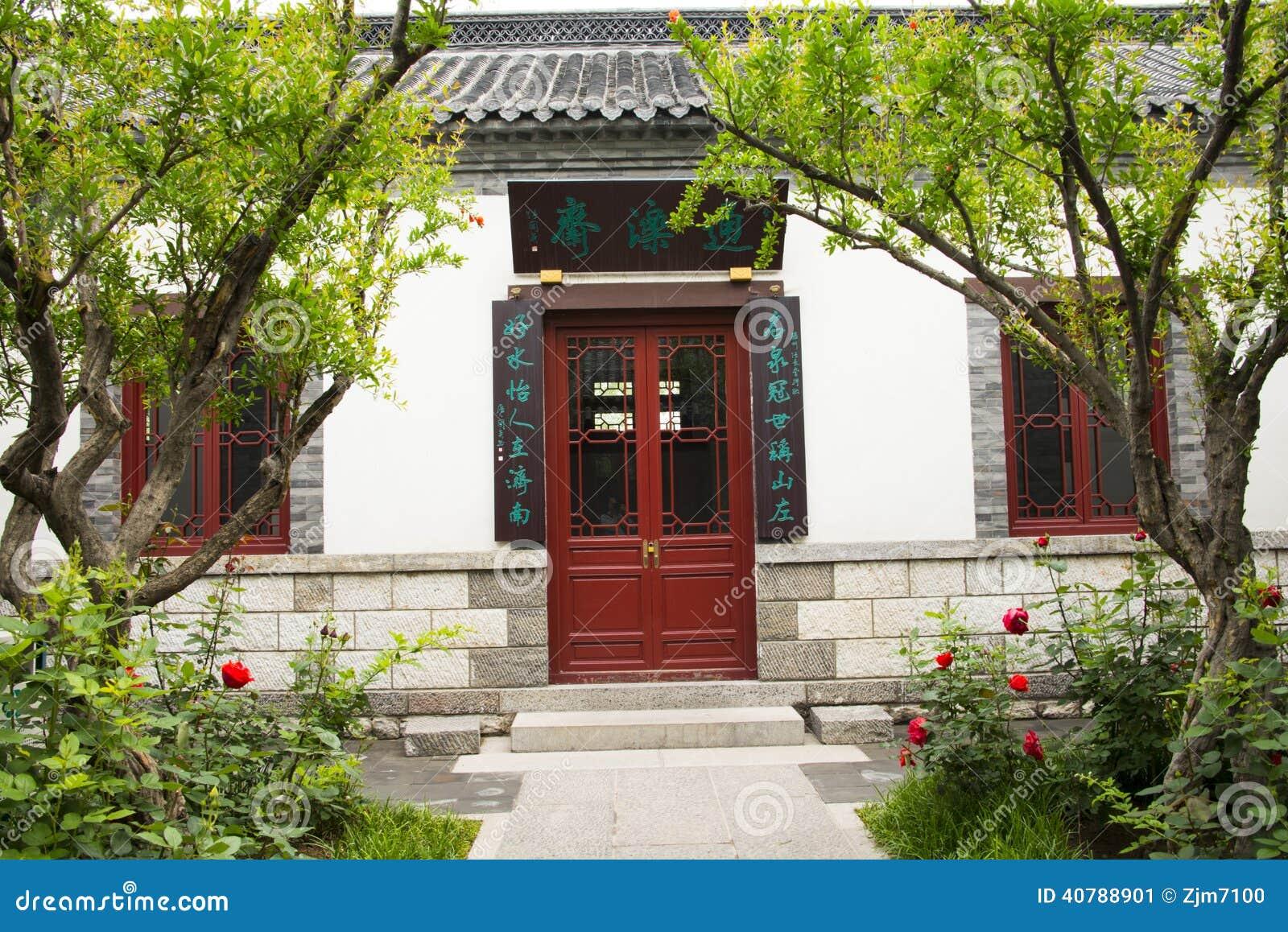 Asiatico cina costruzioni antiche cortili porte rosse e for Finestre bianche