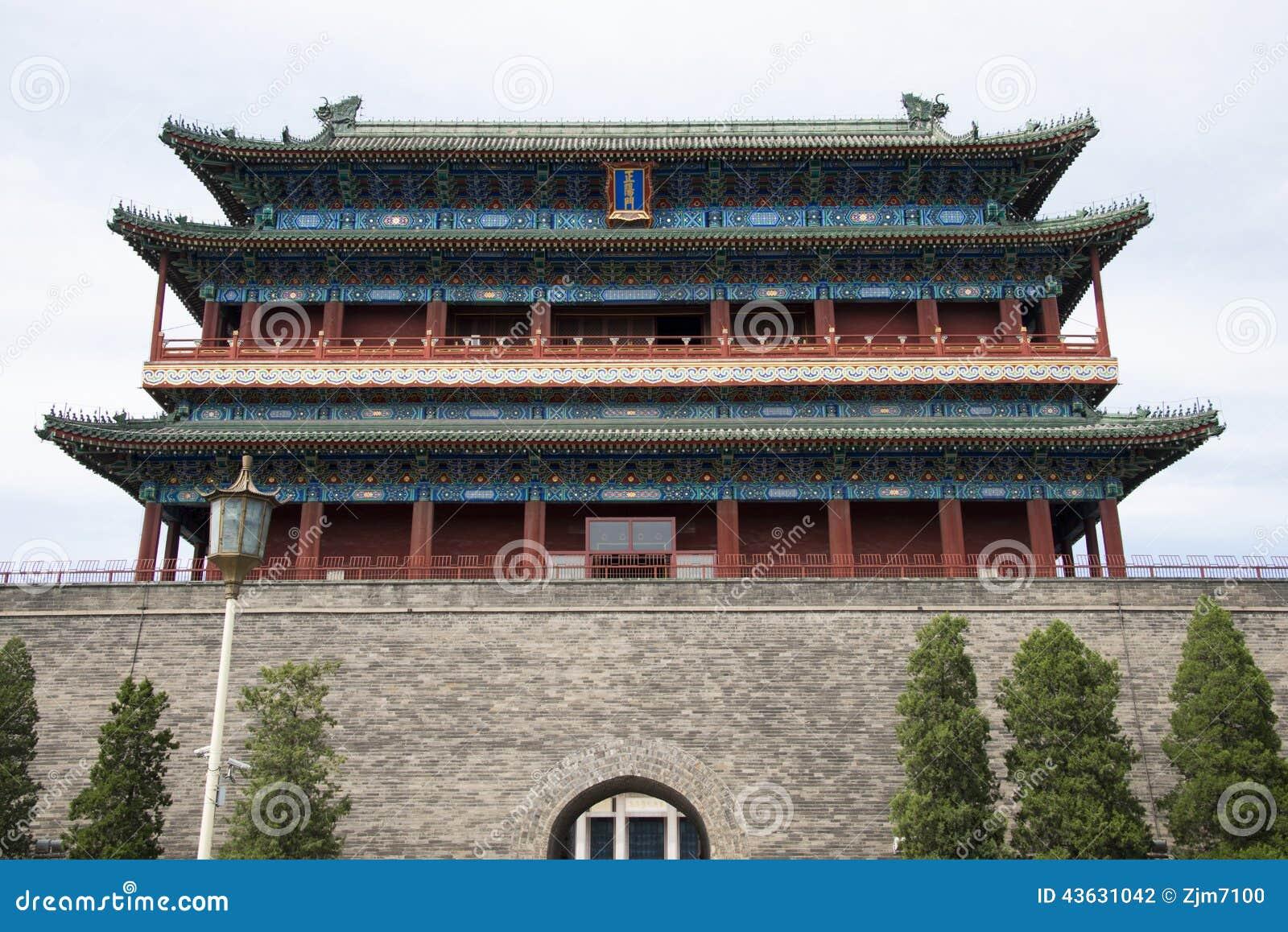 asiatique chine p kin porte de zhengyang porte photographie ditorial image 43631042. Black Bedroom Furniture Sets. Home Design Ideas
