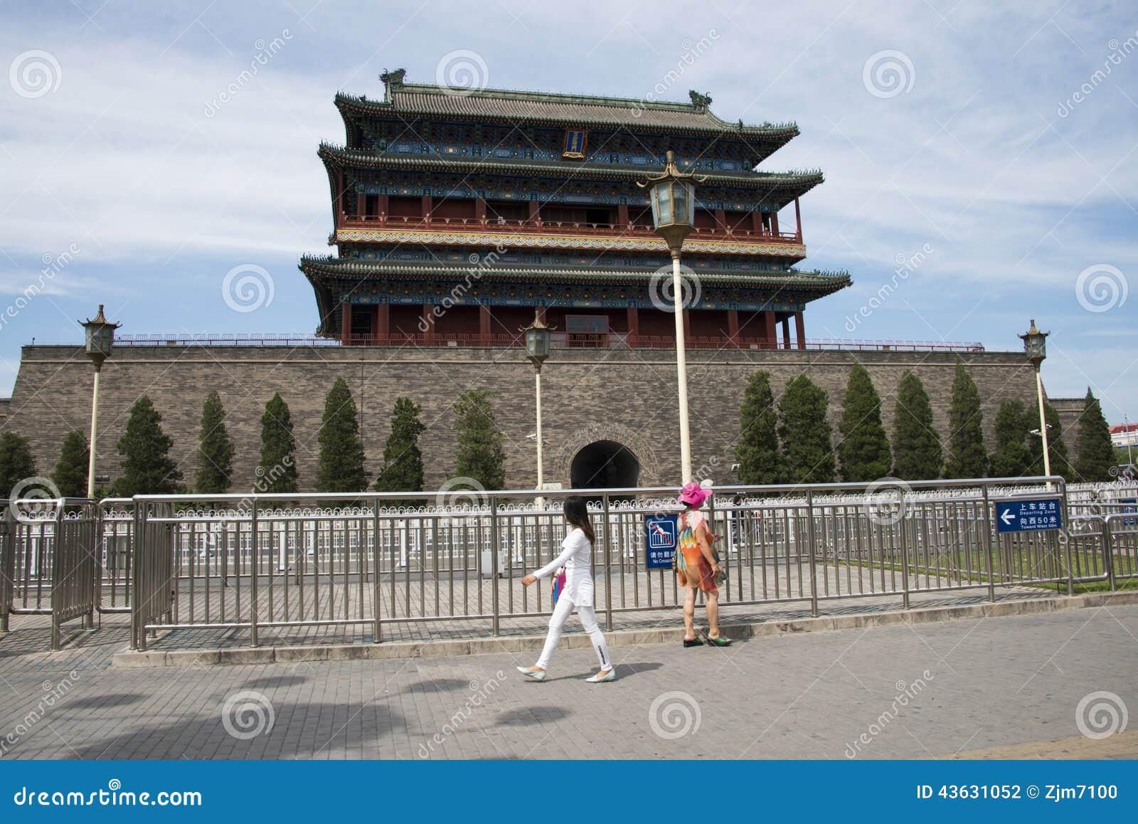 asiatique chine p kin porte de zhengyang porte photographie ditorial image 43631052. Black Bedroom Furniture Sets. Home Design Ideas