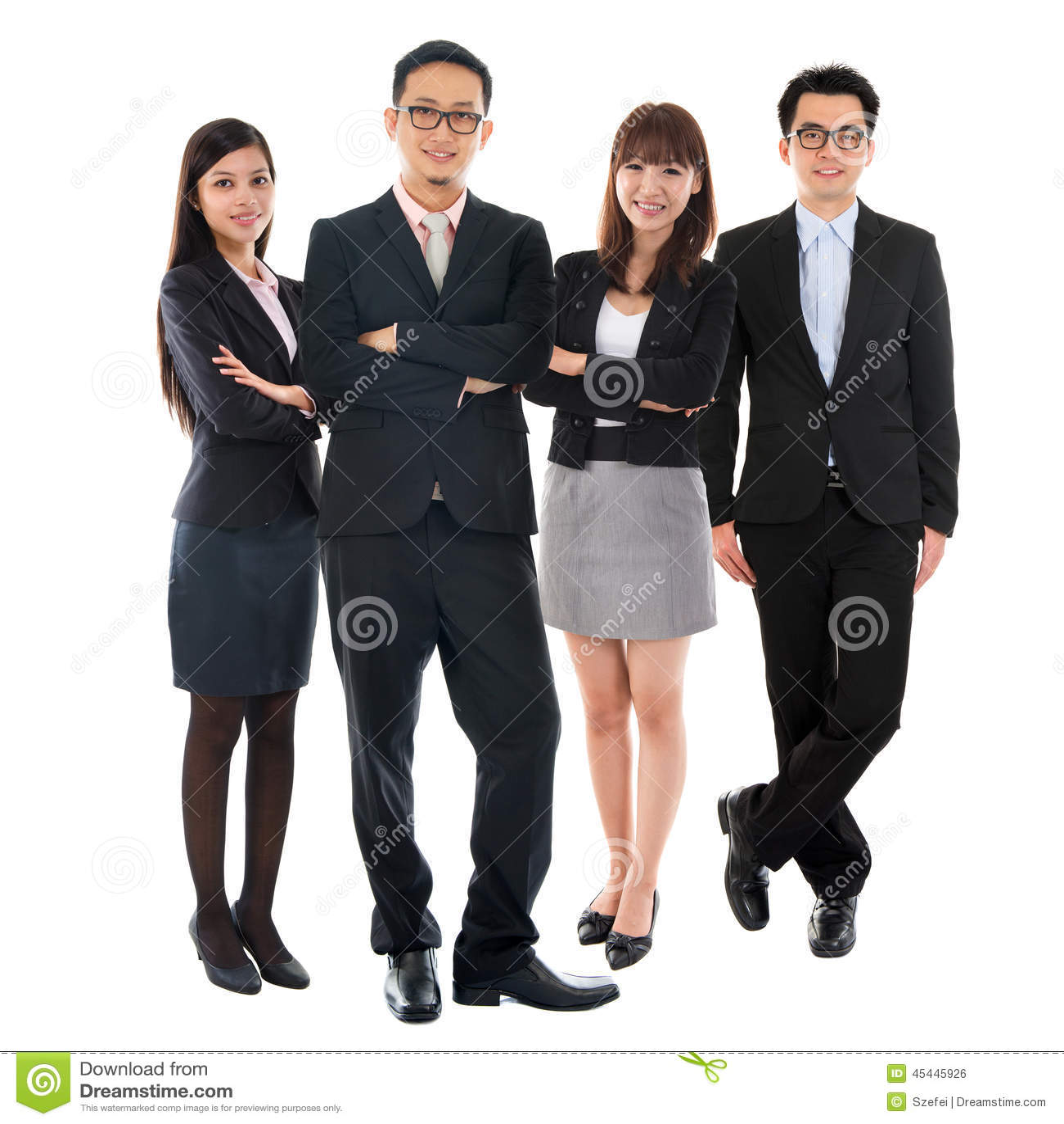 Asiatische multi ethnische Geschäftsleute