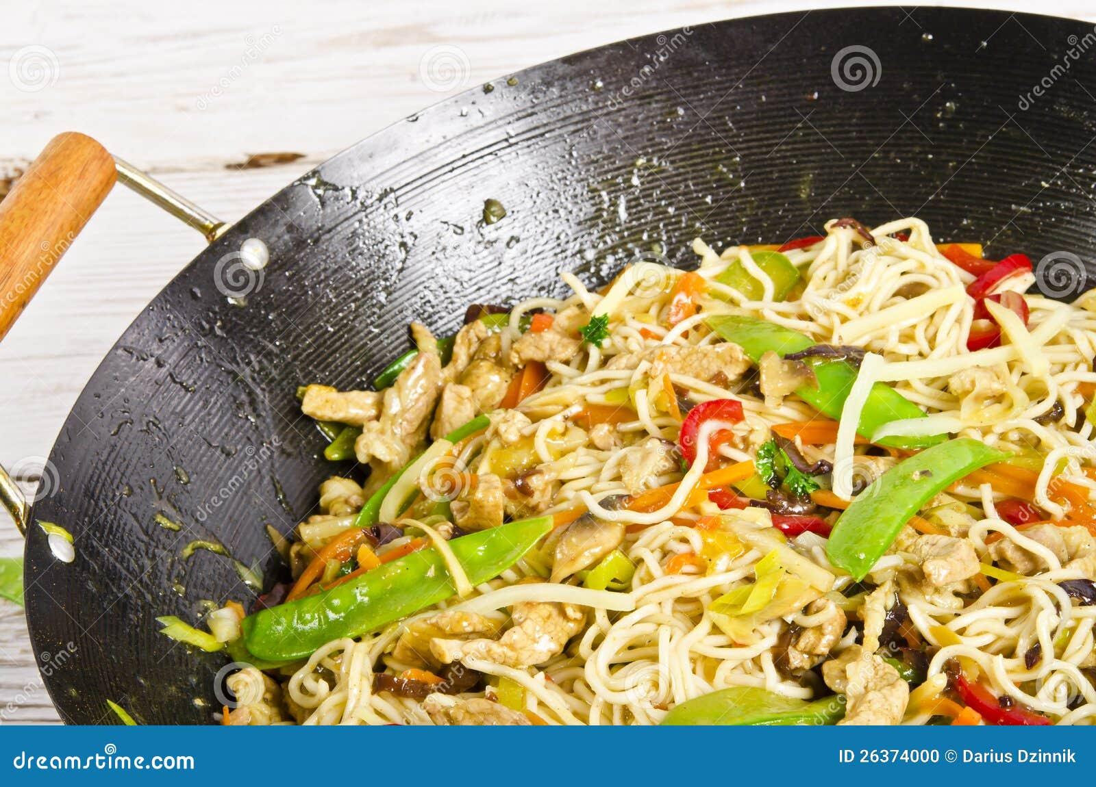 Asiatische Nudeln mit Fleisch