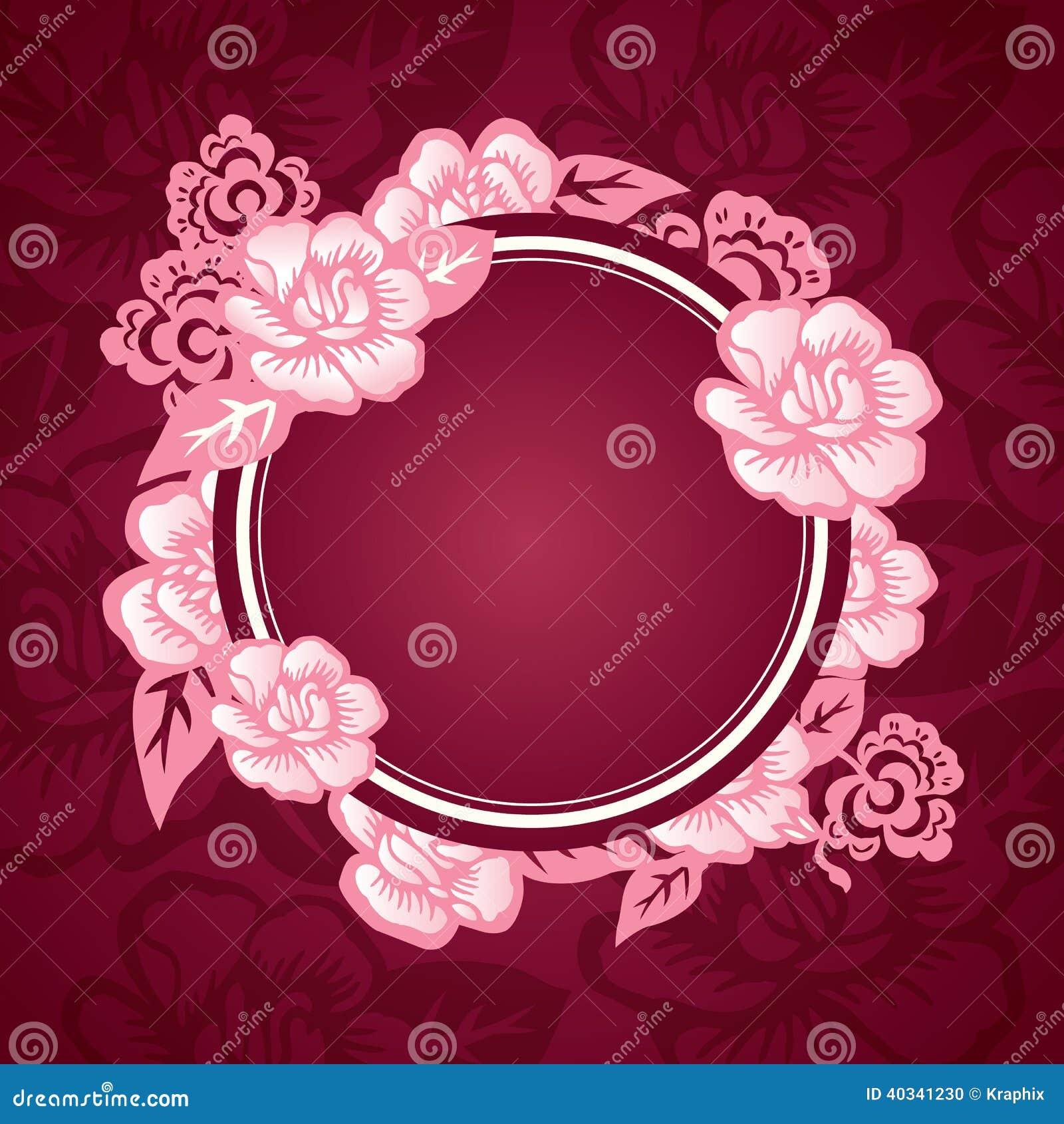 Asiatische Orientalische Muster Design Schablone Vektor Abbildung Illustration Von Rund Asiatisch 40341230