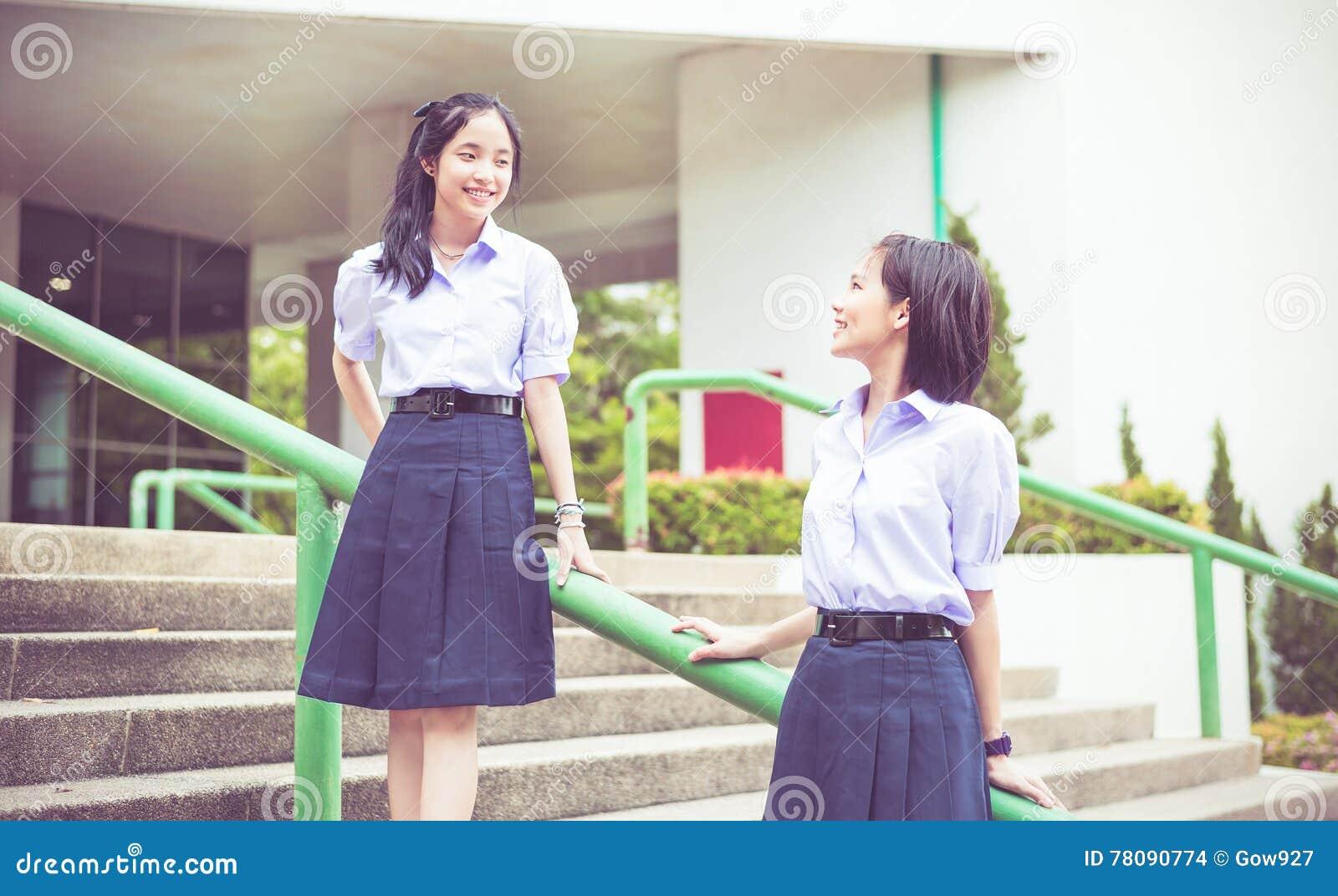 Schule Rock Asiatische Teen School