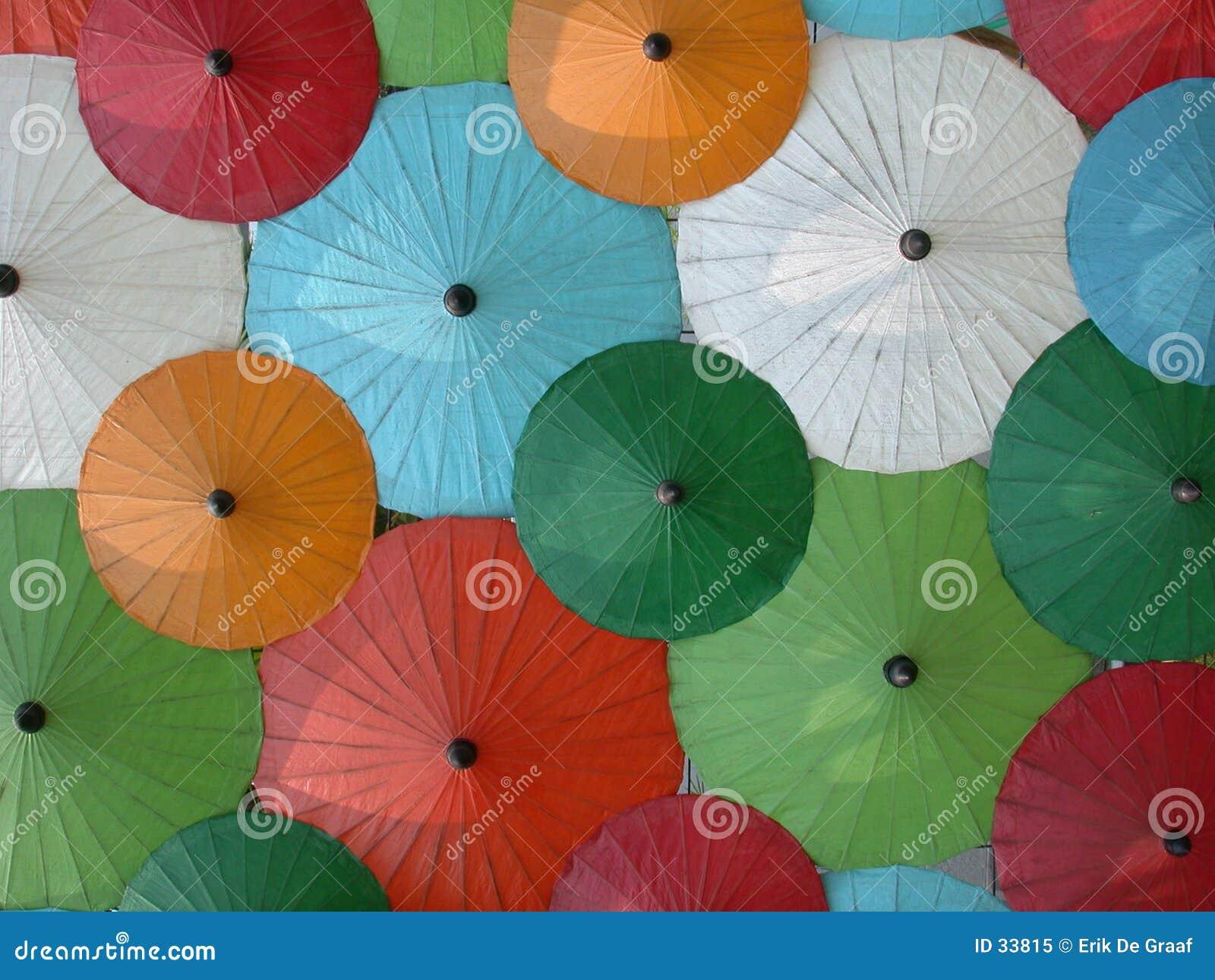 Asiatischen Regenschirmes
