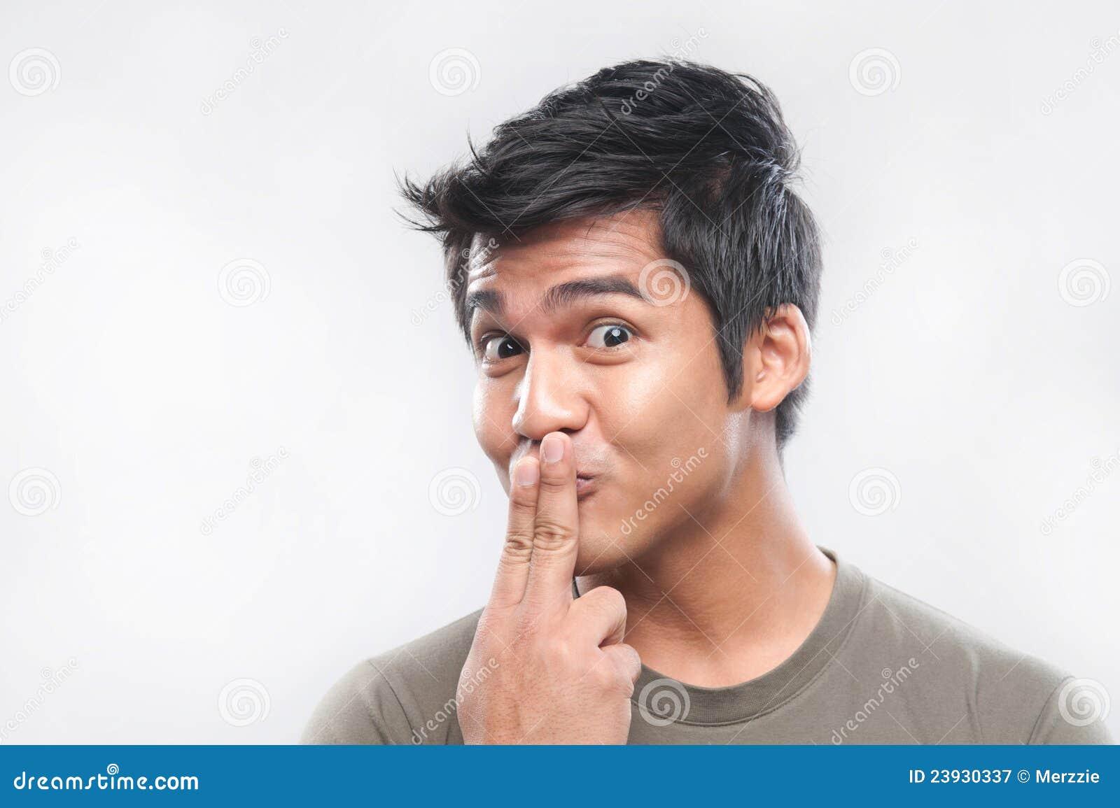 asiatischer mann lustige gesichter lizenzfreie stockfotografie bild 23930337. Black Bedroom Furniture Sets. Home Design Ideas