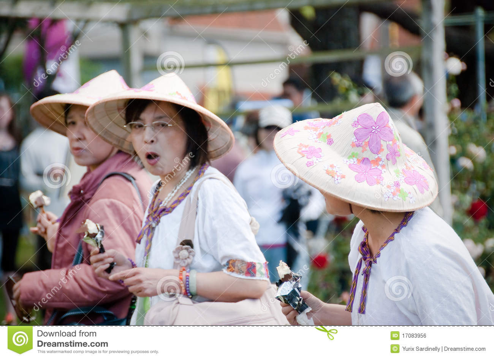 Asiatisches buntes Hats.Festival von Roses.Auckland.NZ