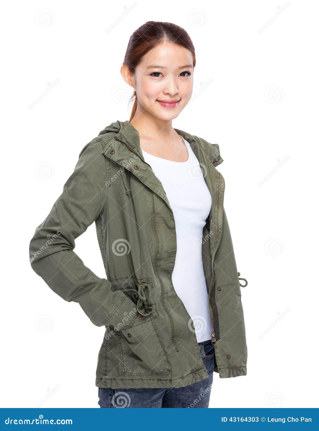 Asiatisches Porträt der jungen Frau