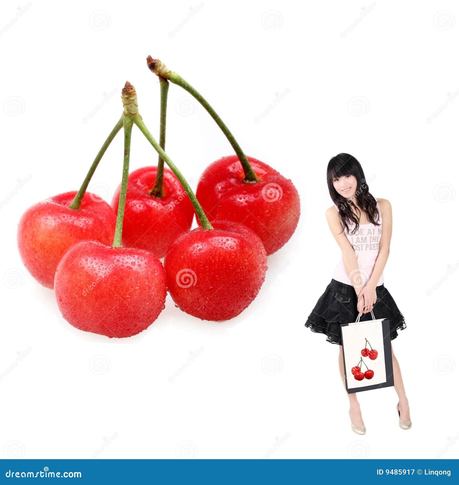 Asiatisk Cherryflickashopping