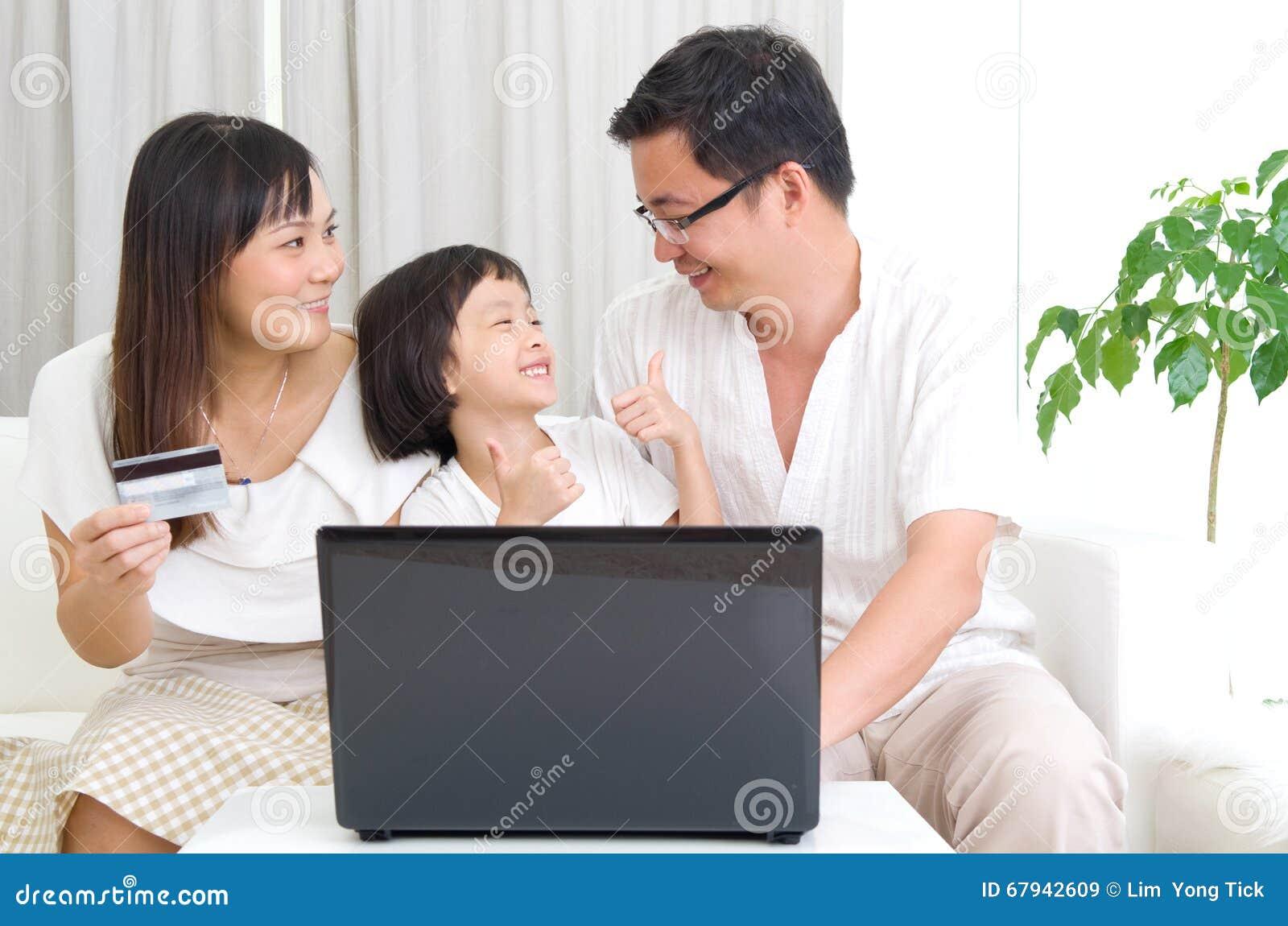 Asiatisk familj