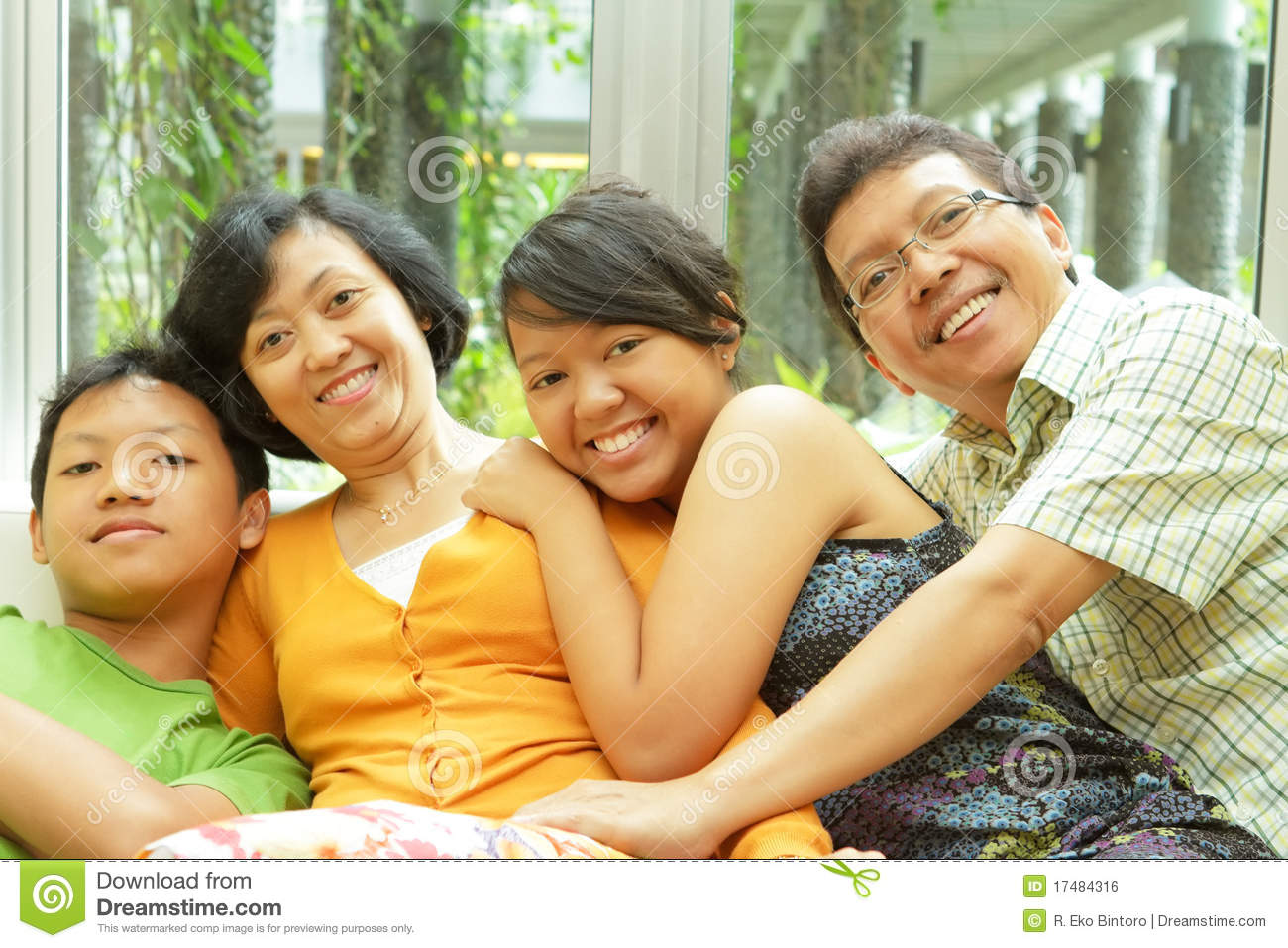 Asiatisk familjtogetherness