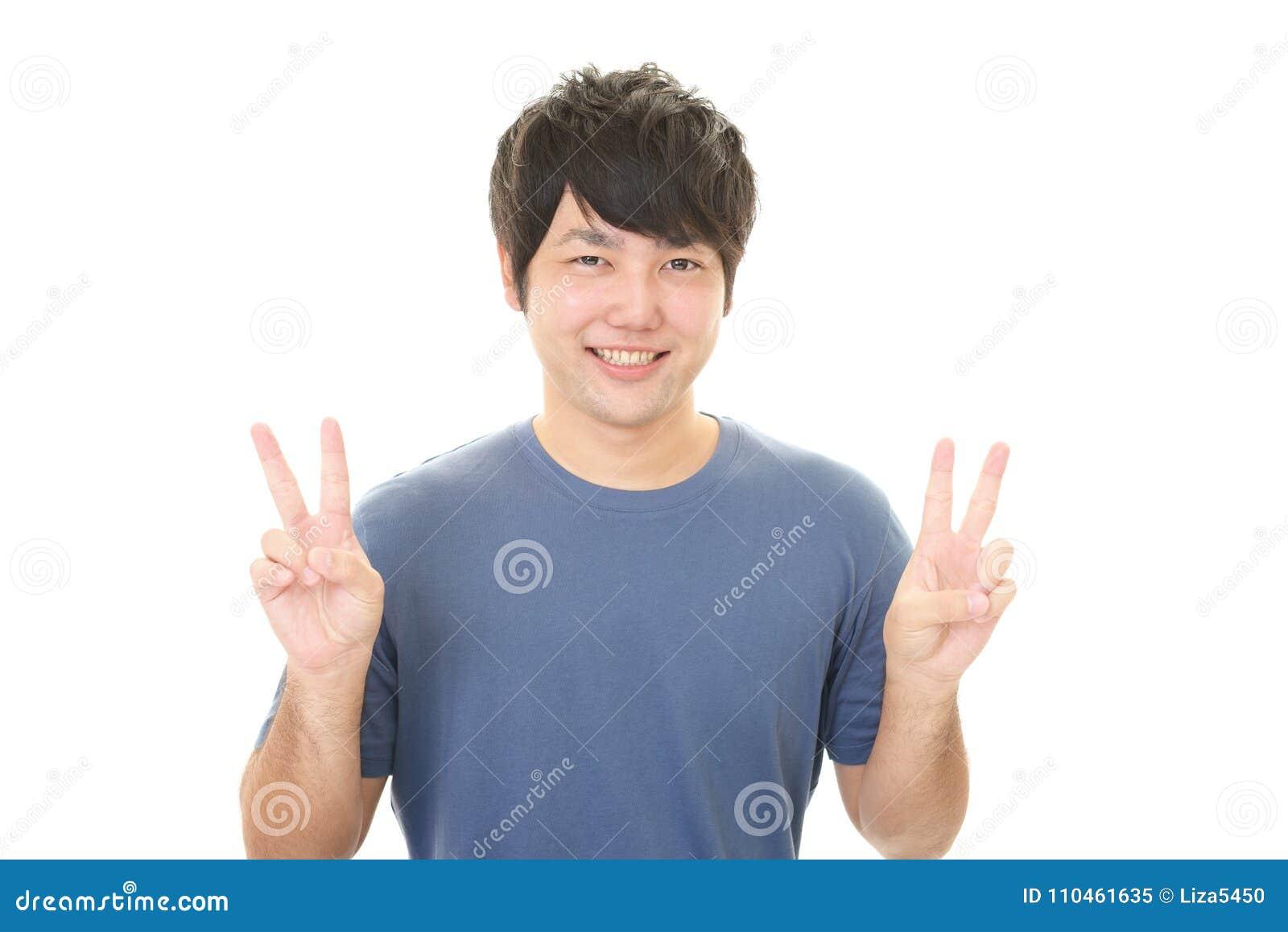 Asiatisk lycklig man
