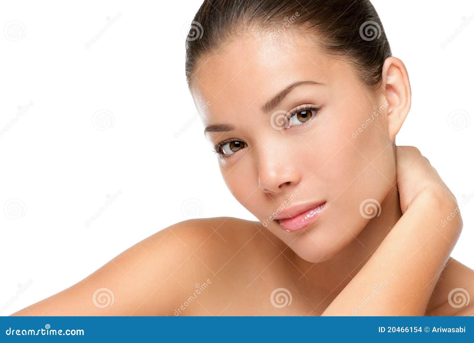 Asiatisk skönhetframsidakvinna