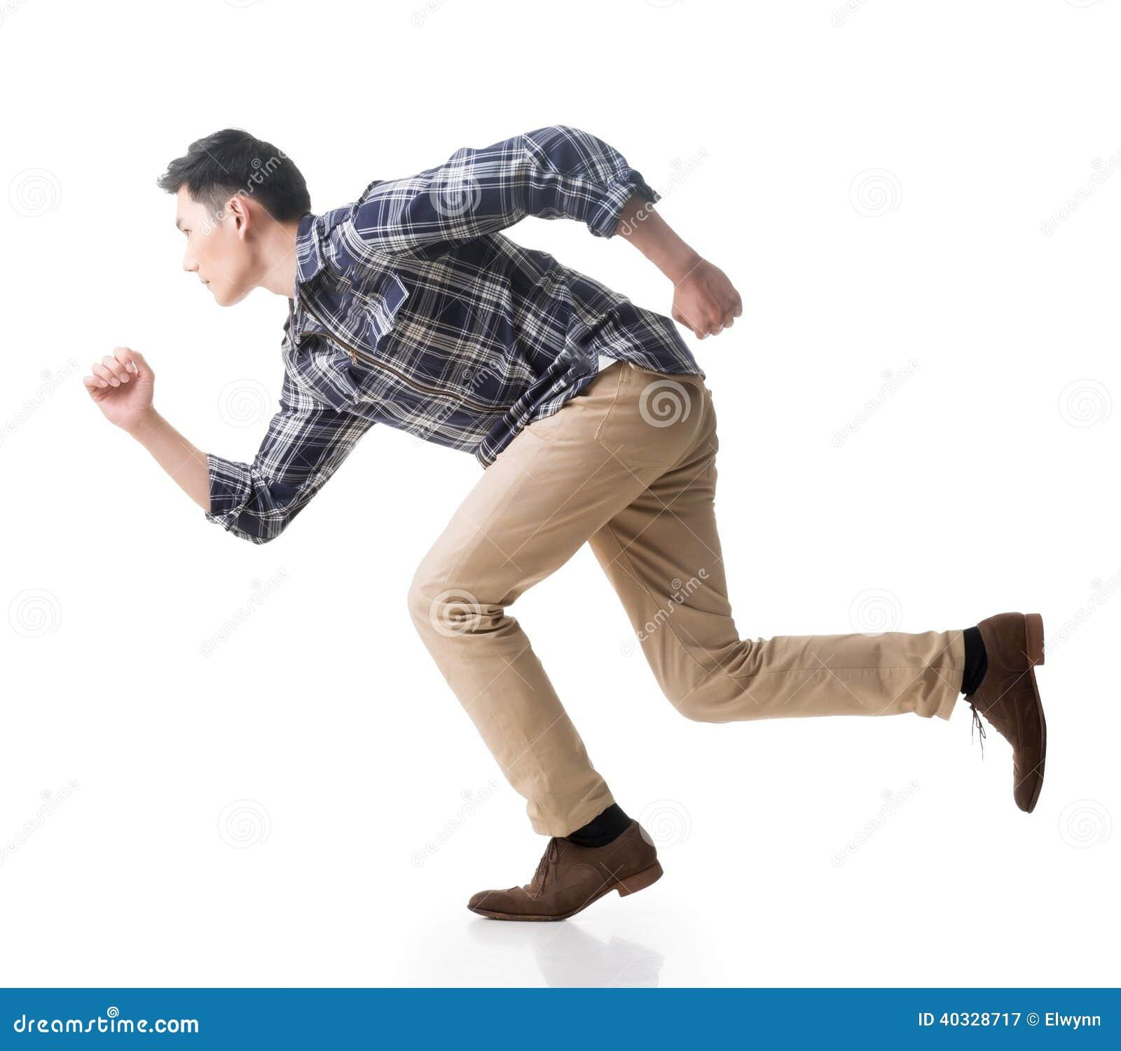 Asiatisk spring för ung man