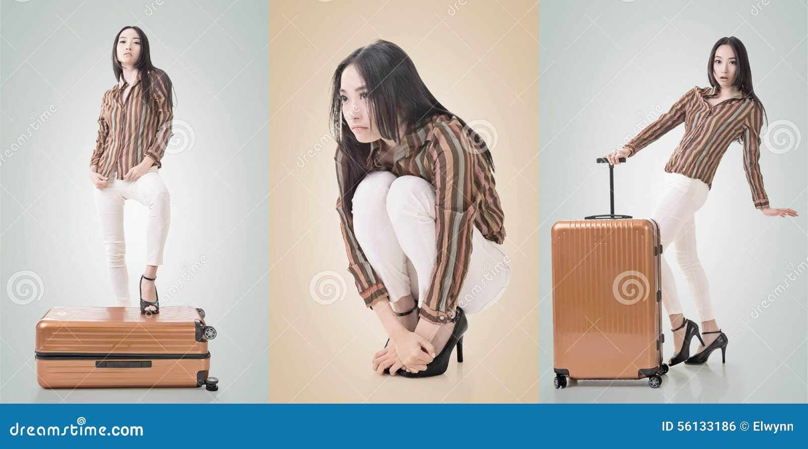 Asiatisk ståendekvinna