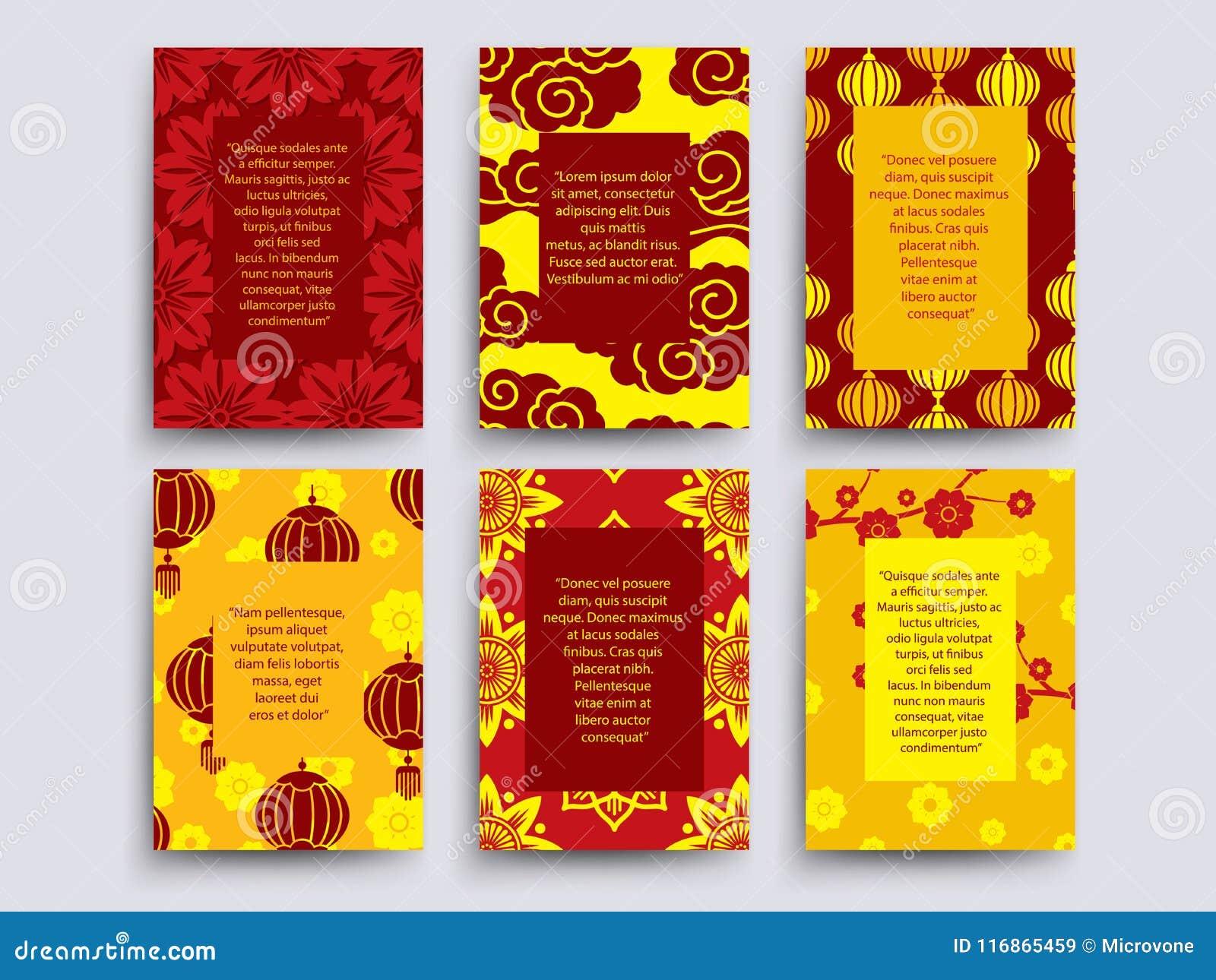 Asiatisk stil cards samlingen Kines japan, koreansk banerdesign