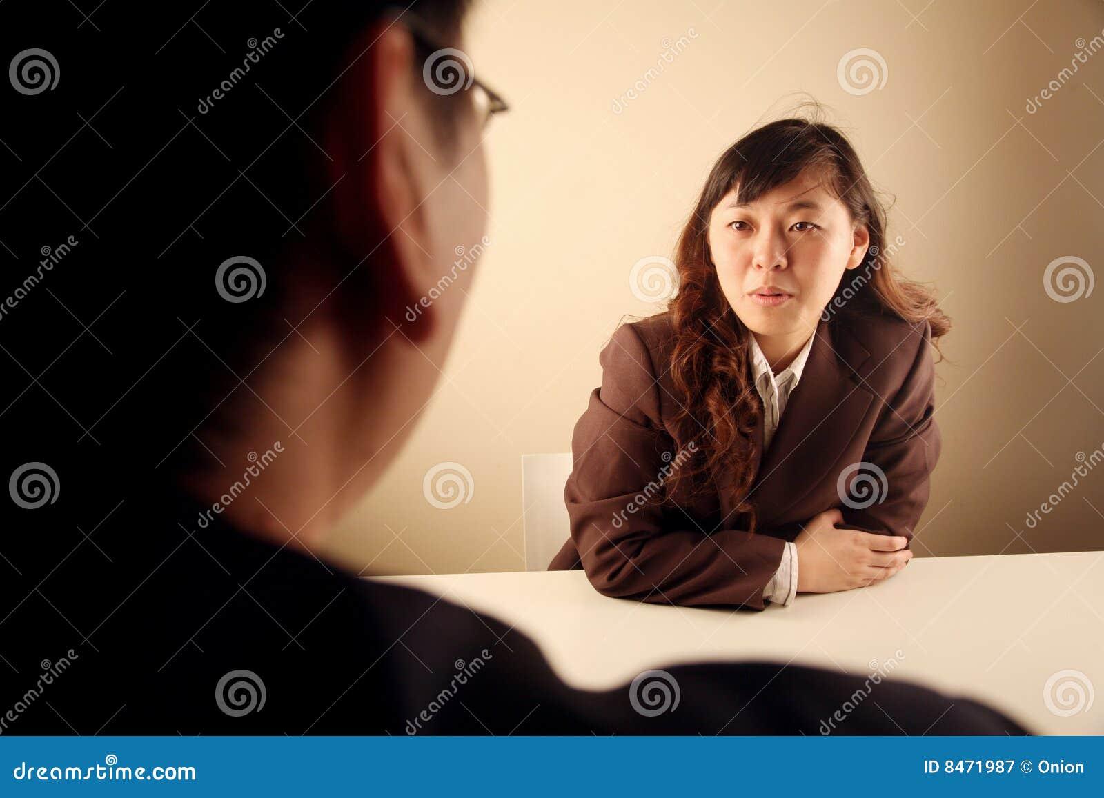 Asiatiskt affärskvinnamöte