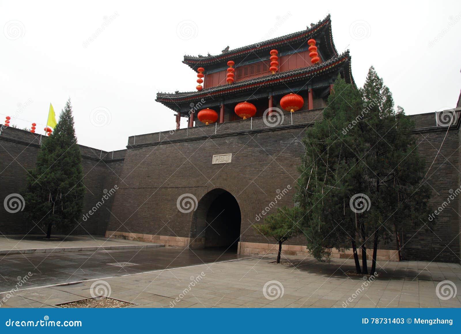 Asien Kina, Peking, södra stad, antika byggnader,