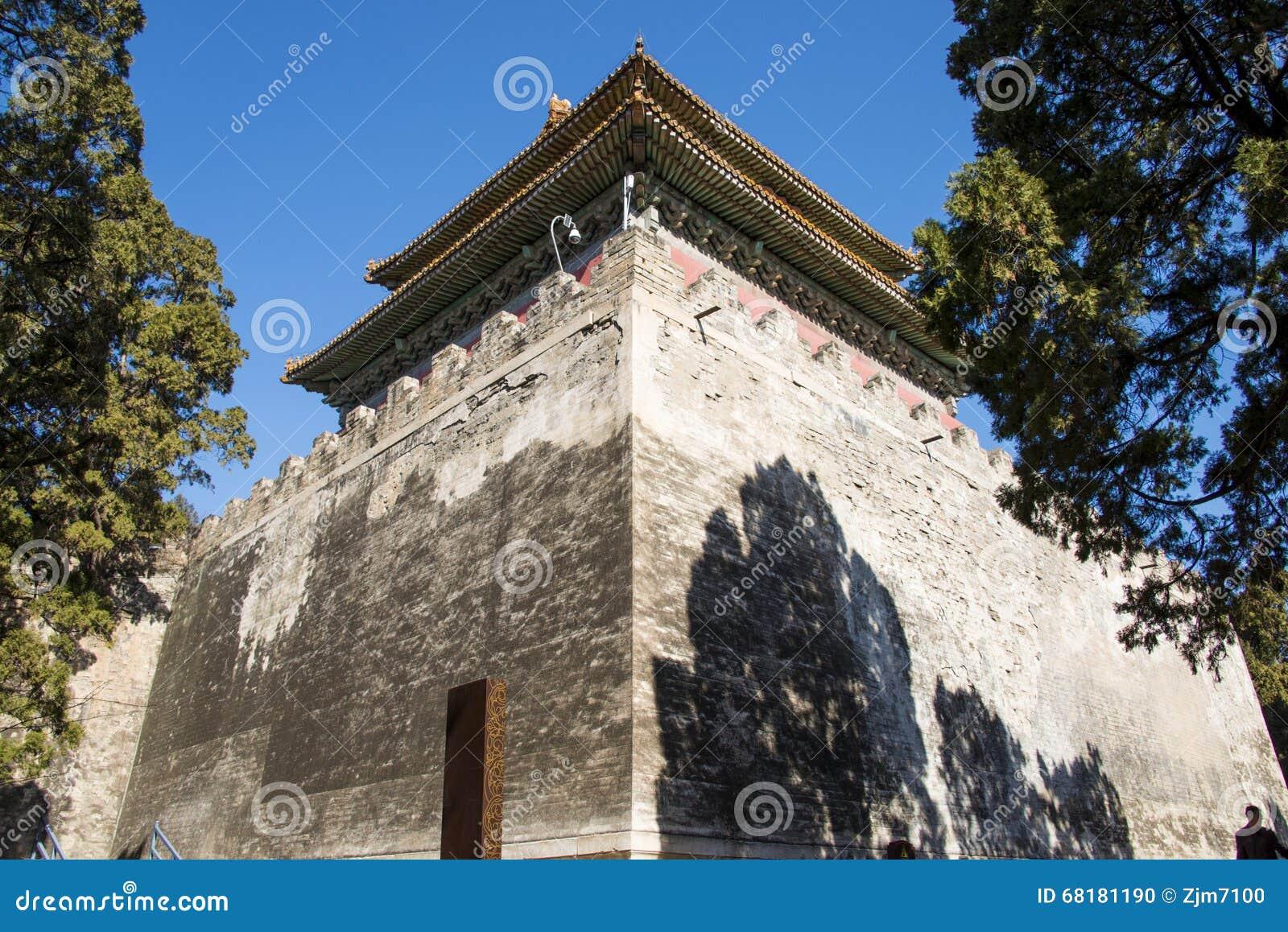 Asien kines, Peking, Ming Dynasty Tombs sceniskt område, Dinglingï ¼ ŒMinglou