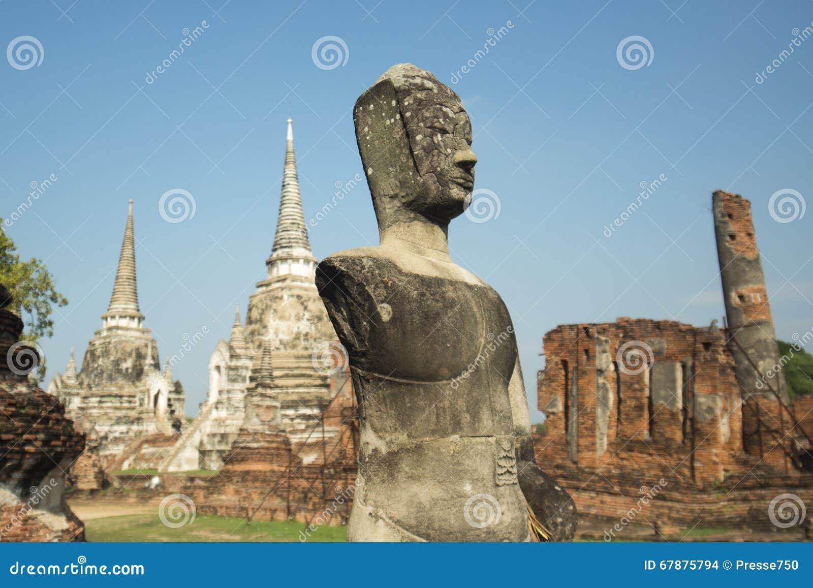 ASIEN THAILAND AYUTHAYA WAT PHRA MAHATHAT