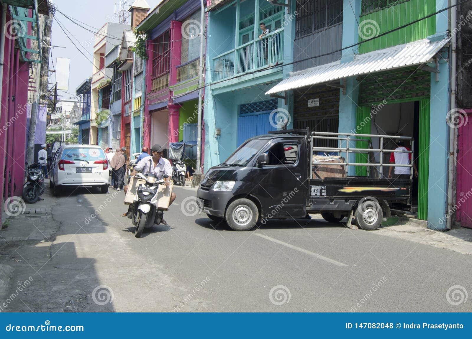 Asien-Verkehr - nahe Pabean-Markt Surabaya