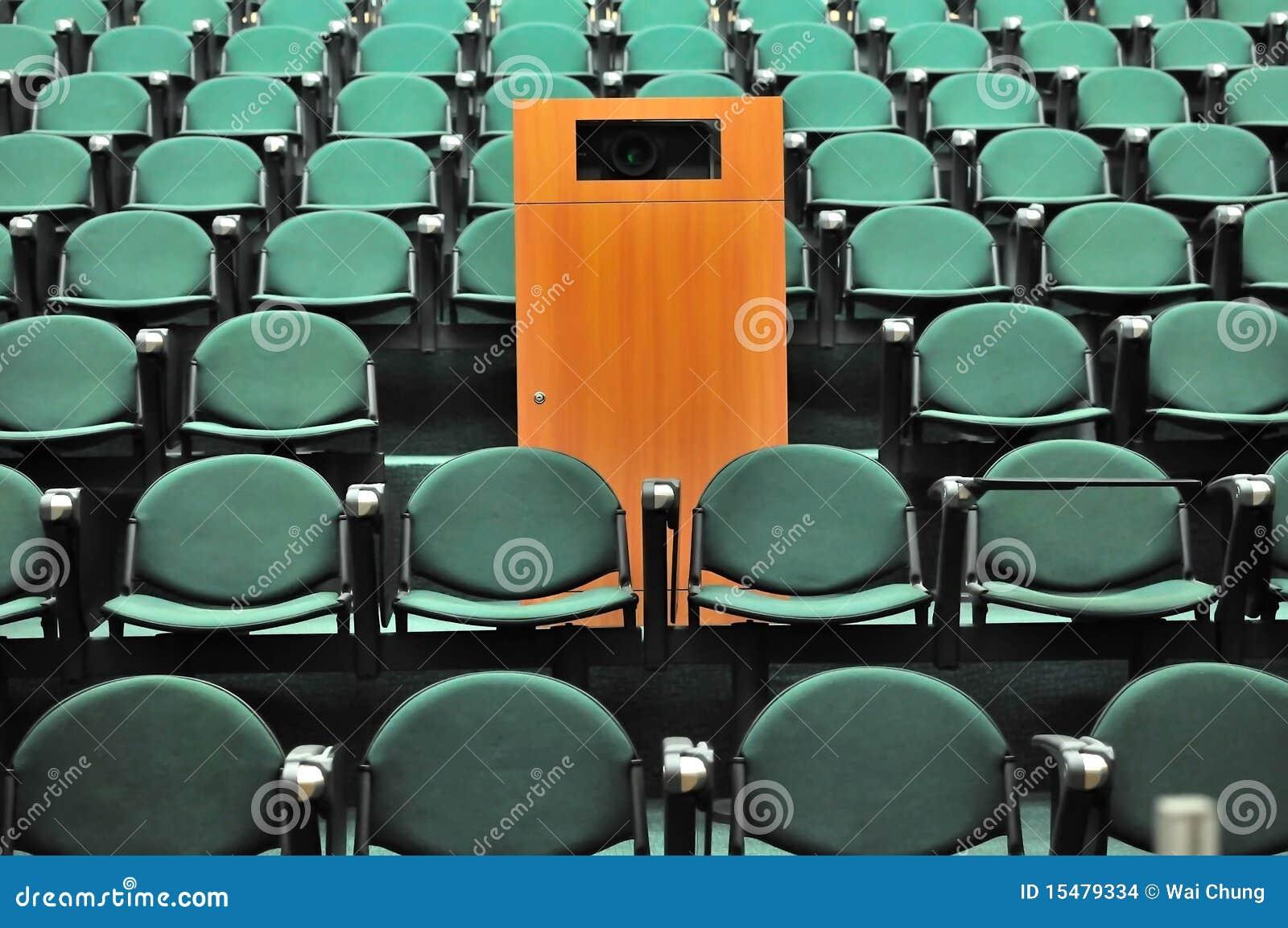 Asiento del teatro de conferencia