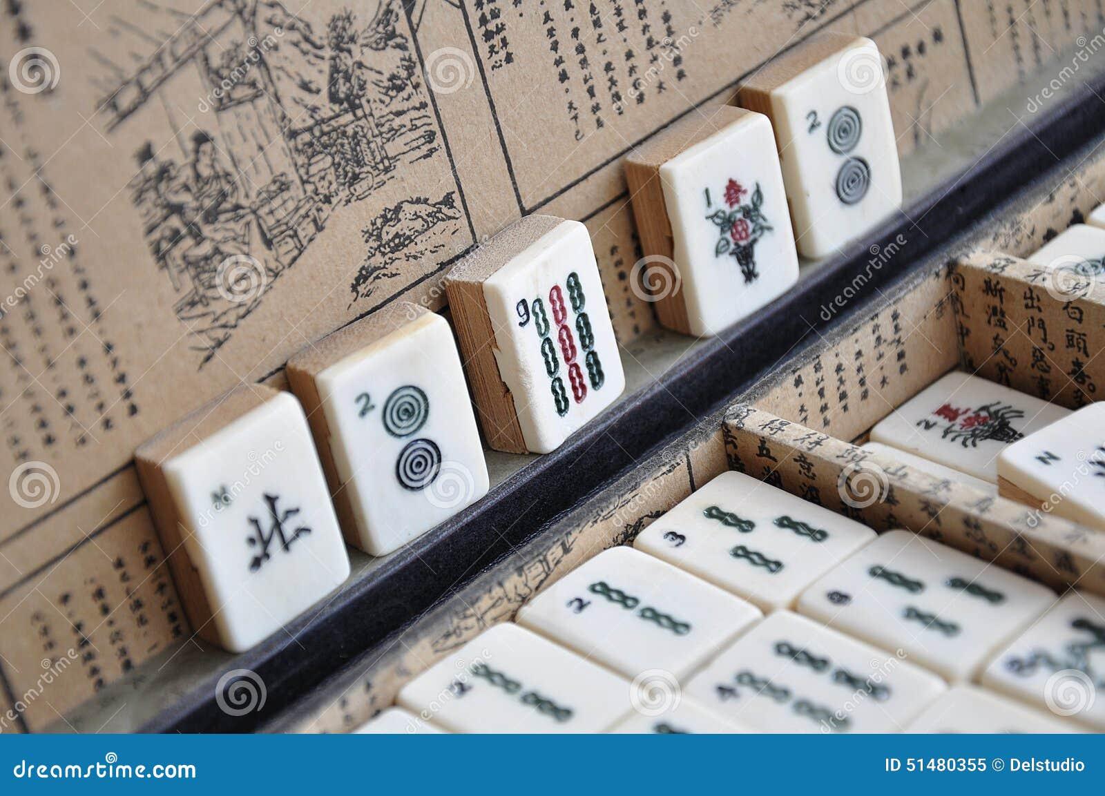 Ask av Mahjong tegelplattor