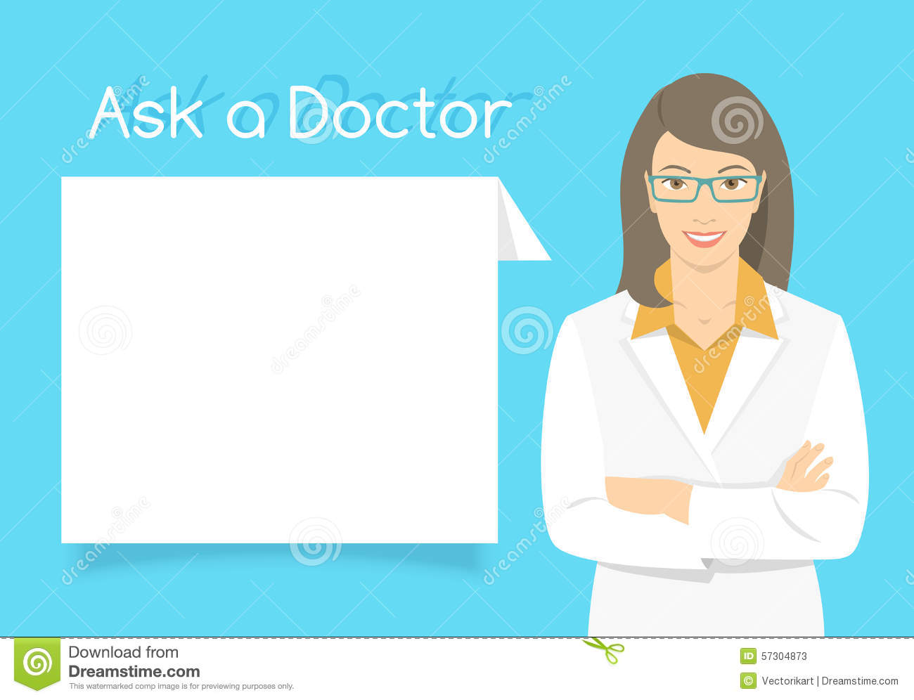 Ask A Doctor >> Ask A Doctor Information Banner Stock Vector Illustration Of