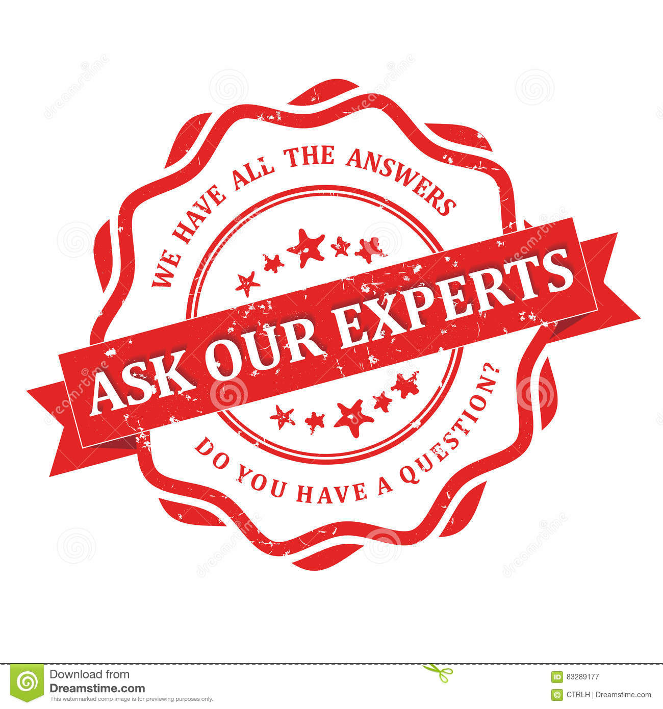 Ask our experts - grunge stamp.