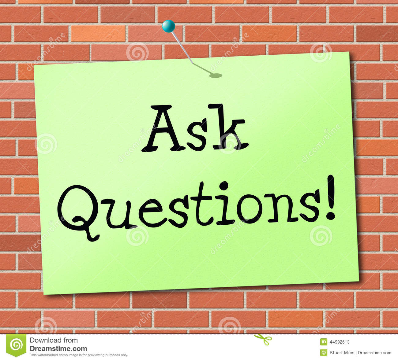 Ask Questions Indicates Info Questioning And Assistance